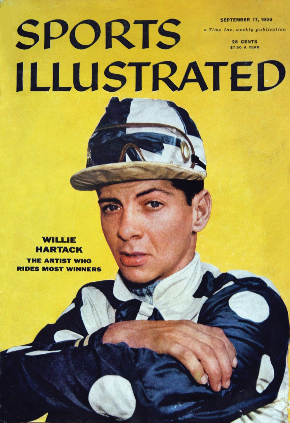 """Bill Hartack on the cover of """"Sports Illustrated"""" in 1956 (Sports Illustrated)"""