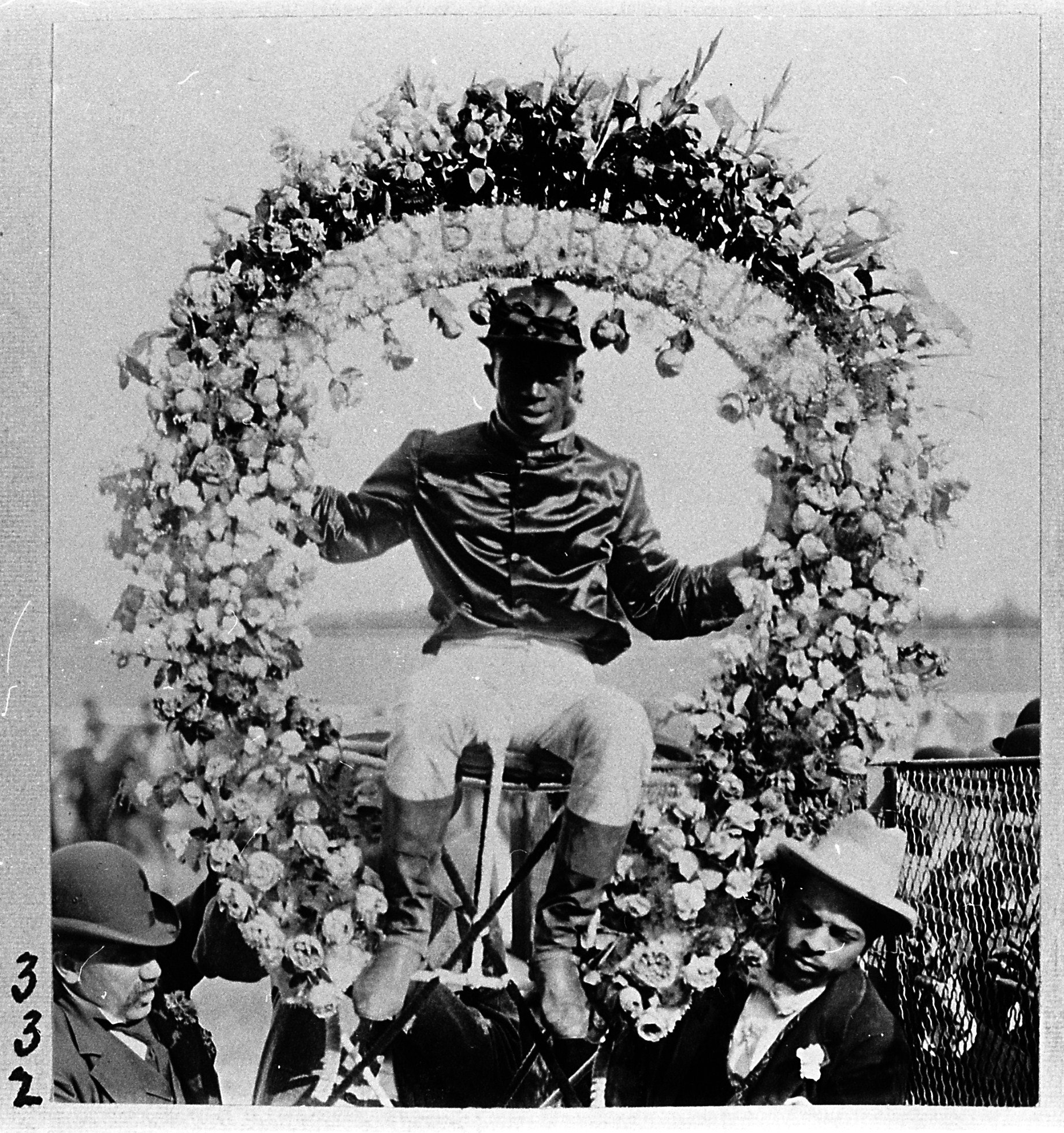 Anthony Hamilton after winning the 1895 Suburban (Keeneland Library Hemment Collection)