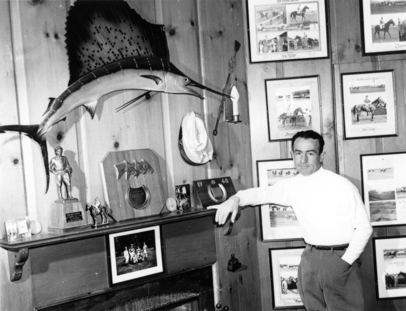 Ted Atkinson at home in 1957 (Museum Collection)