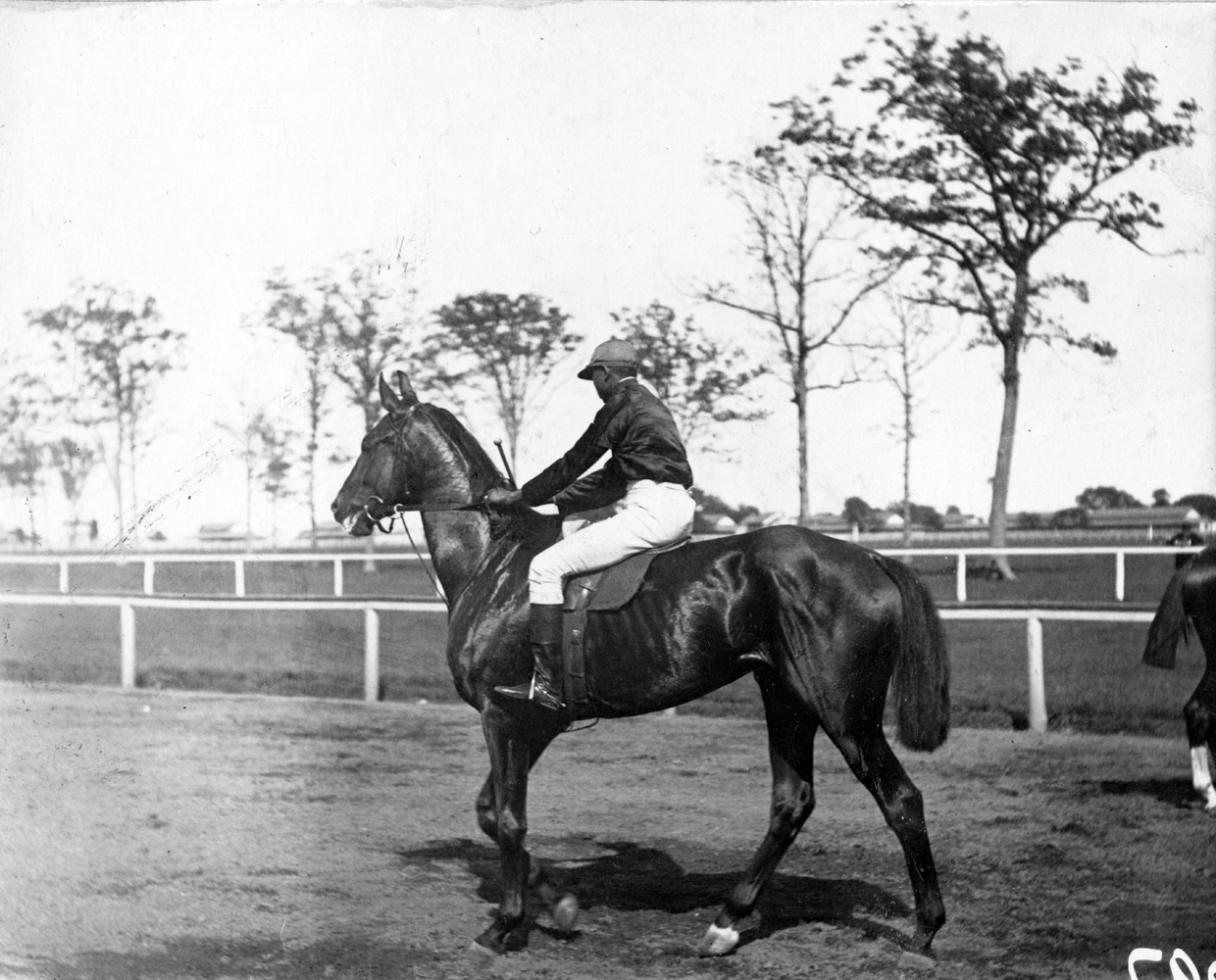 "Shelby ""Pike"" Barnes and Montana, undated (Keeneland Library Hemment Collection)"