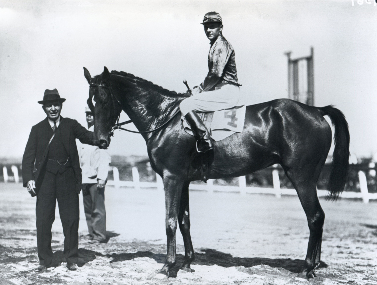 George Bostwick with trainer Thomas Hitchcock after winnning the 1930 Bushwick Steeplechase at Aqueduct with Actor (Keeneland Library Cook Collection/Museum Collection)