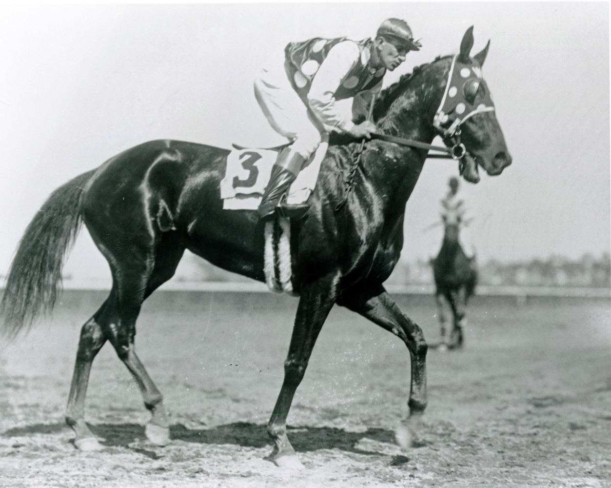 Frank Coltiletti and Black Maria (Keeneland Library Cook Collection/Museum Collection)