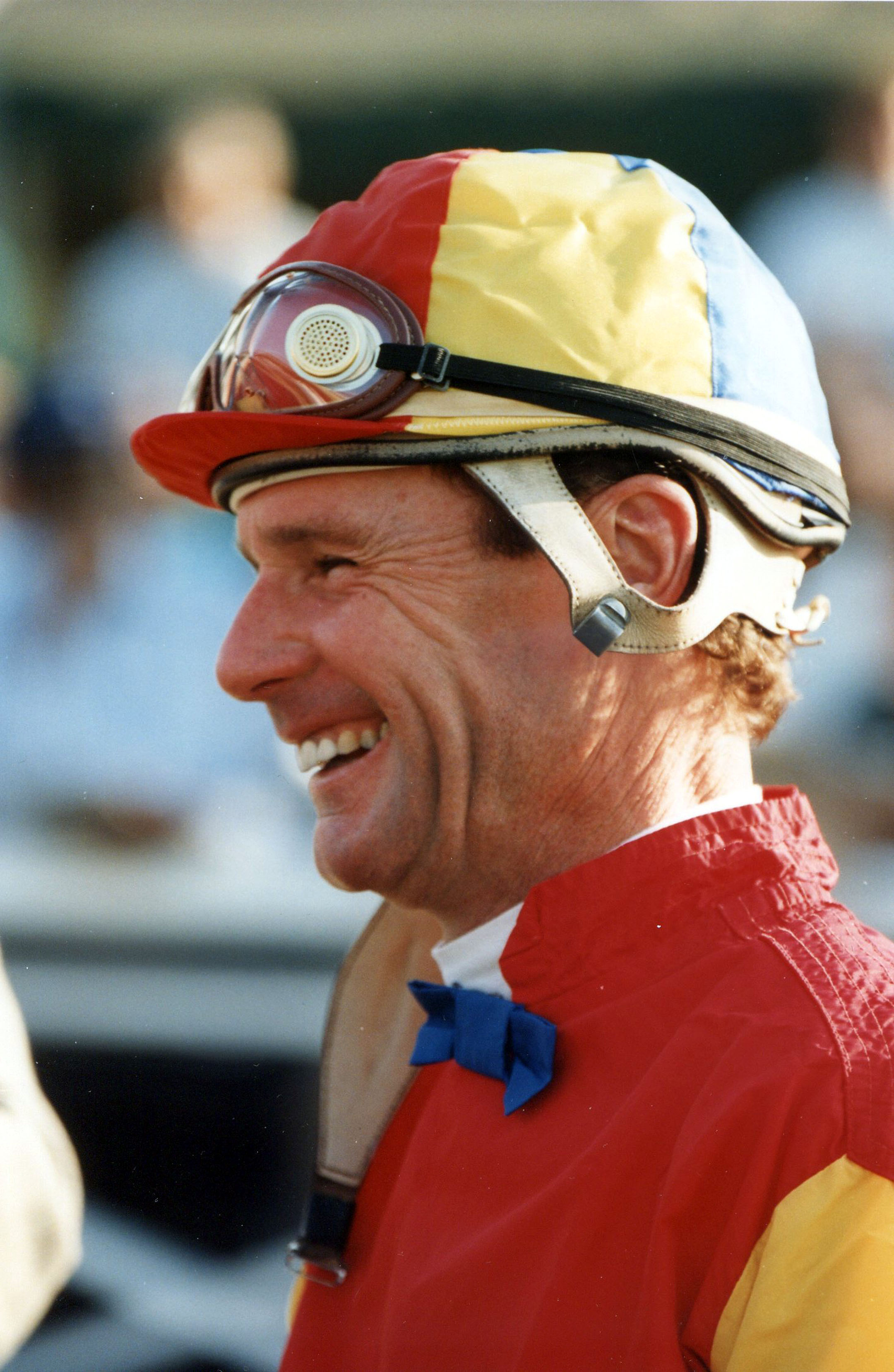 Eddie Delahoussaye at Gulfstream Park, November 1992 (Barbara D. Livingston/Museum Collection)