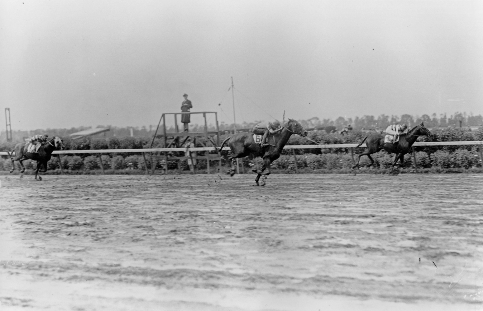 Mack Garner and Blue Larkspur winning the 1929 Belmont Stakes (Keeneland Library Cook Collection/Museum Collection)