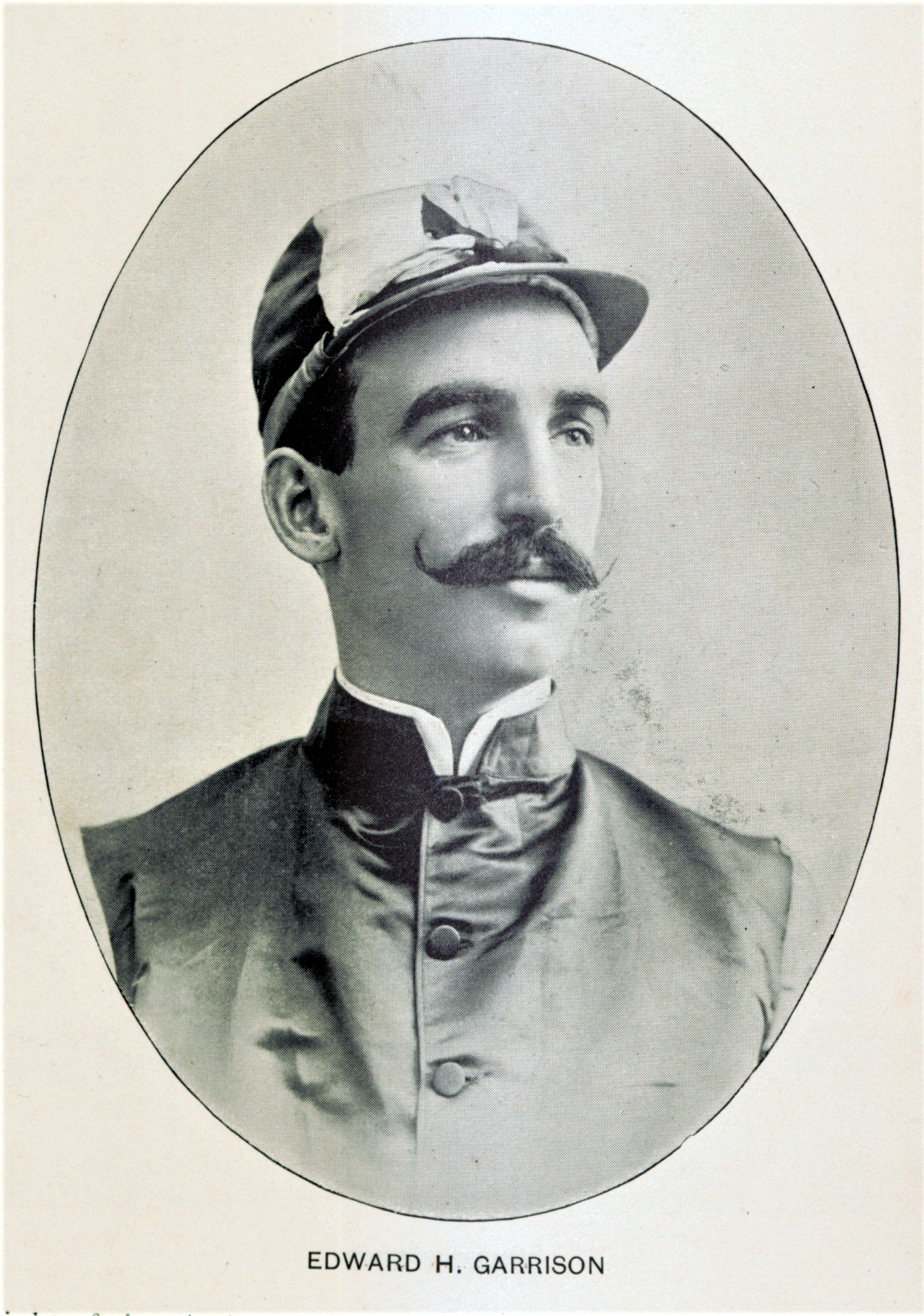 Photograph of jockey Edward H. Garrison from The American Turf (Keeneland Library Collection)