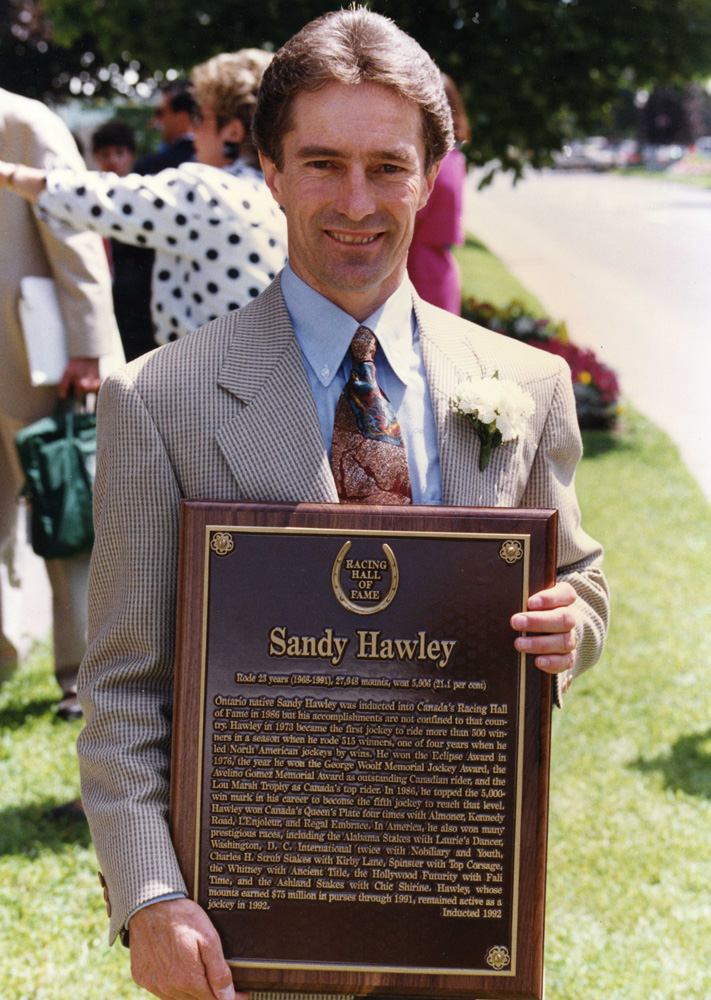 Sandy Hawley at his Hall of Fame induction in 1992 (Barbara D. Livingston/Museum Collection)