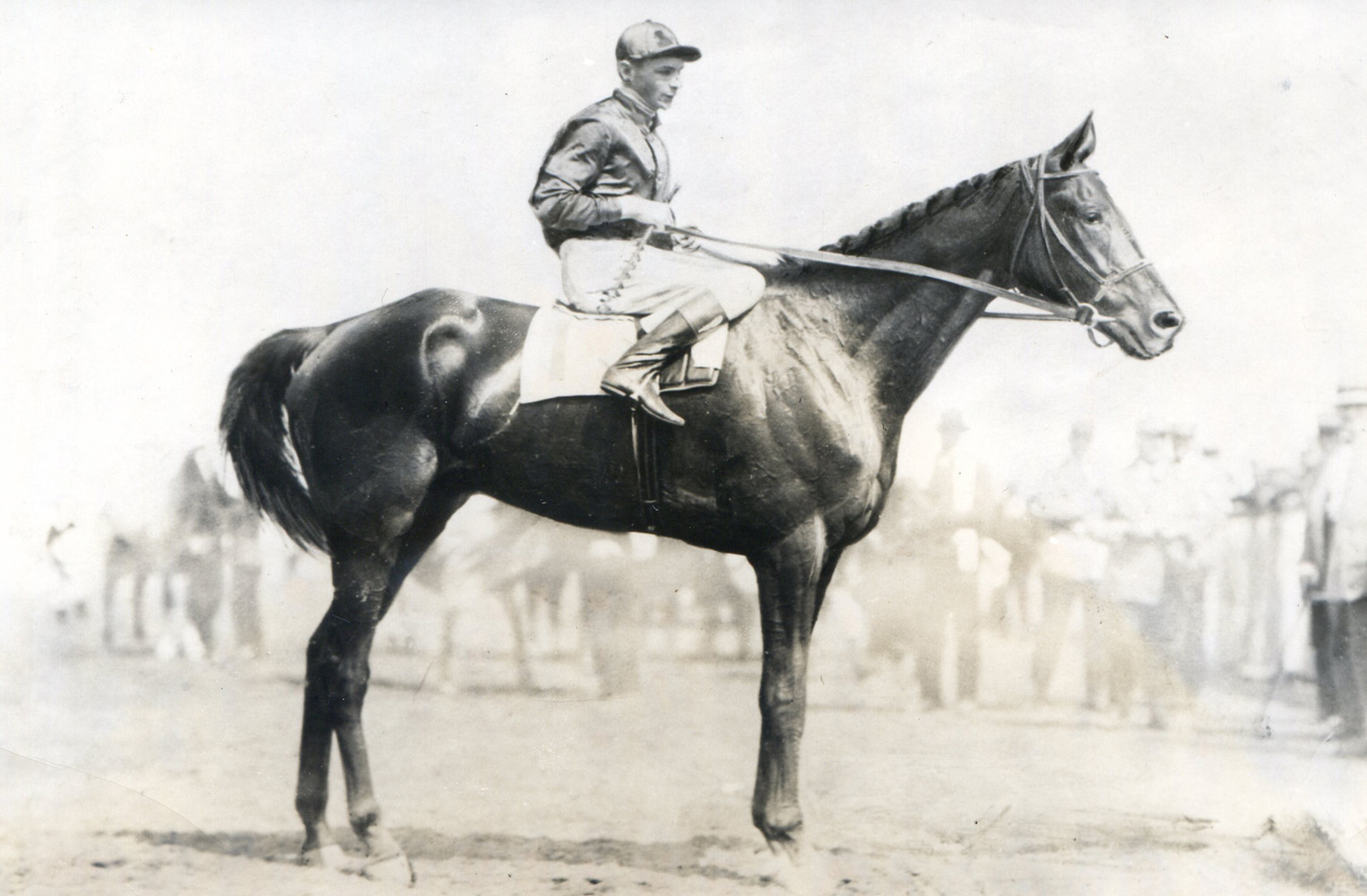 Albert Johnson and Exterminator at Saratoga in 1918 (Museum Collection)