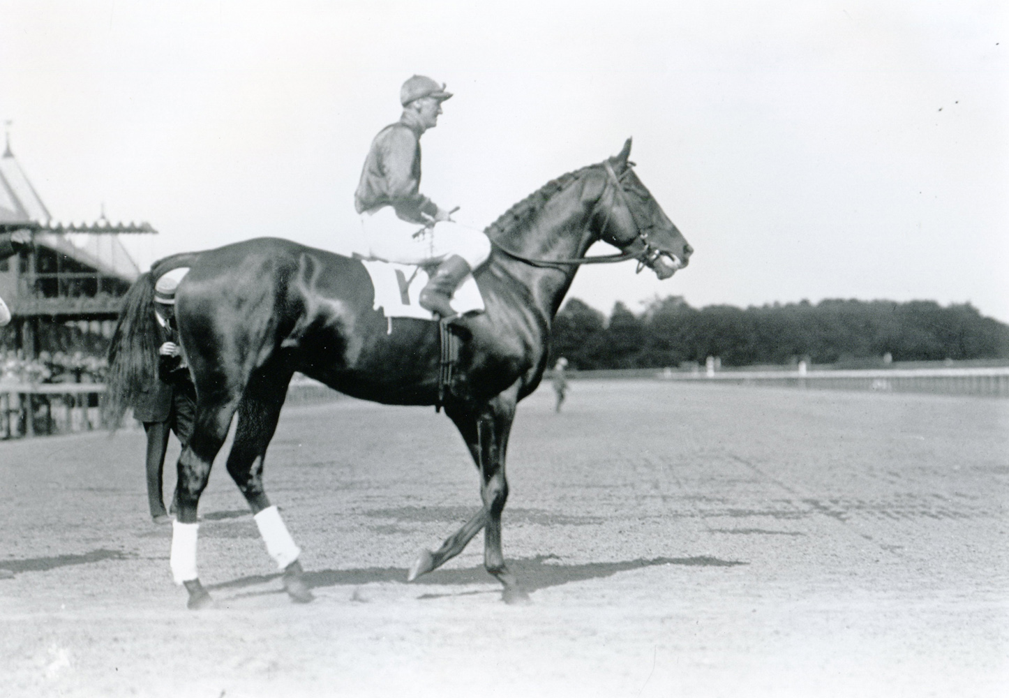 Willie Knapp and Sun Briar at Saratoga (Keeneland Library Cook Collection/Museum Collection)