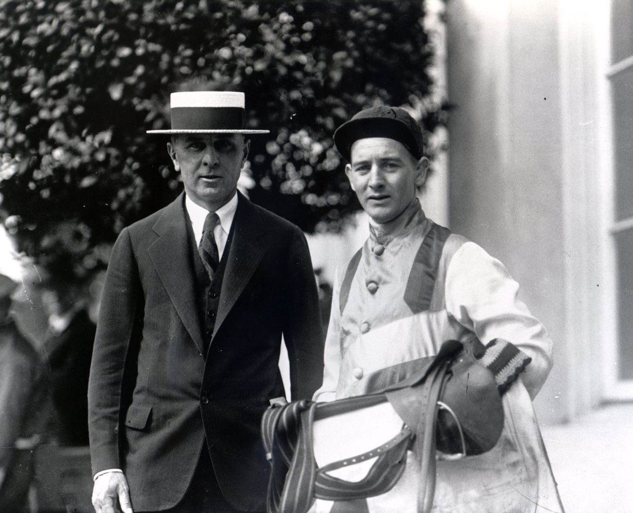 Trainer Max Hirsch and Clarence Kummer (Keeneland Library Cook Collection/Museum Collection)