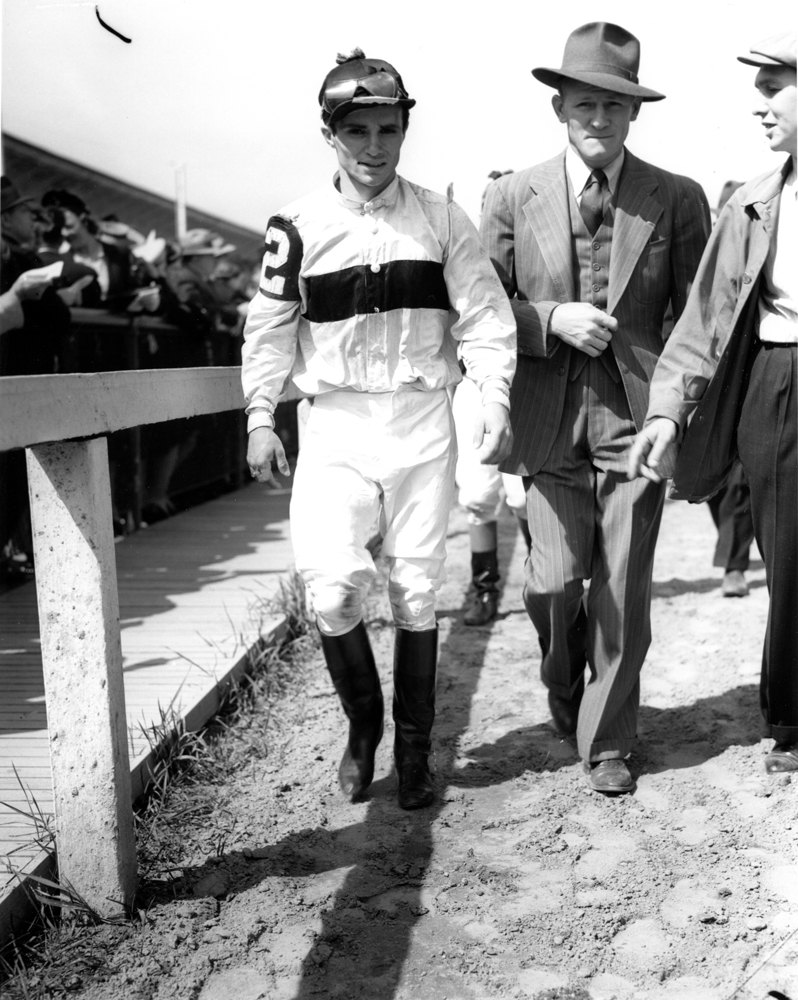 Ralph Neves at Pimlico, May 1940 (Keeneland Library Morgan Collection/Museum Collection)