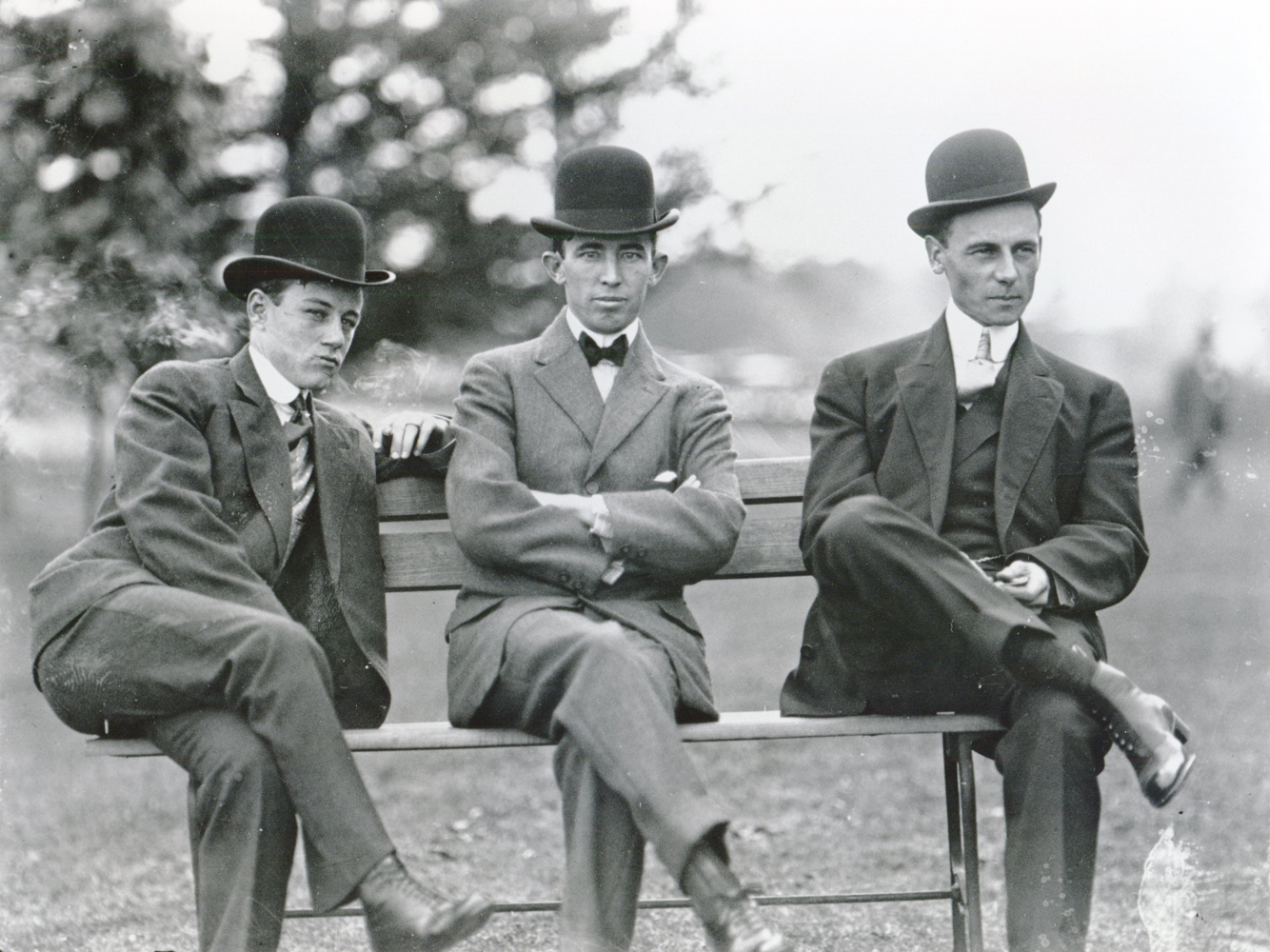 Frank O'Neill, Tommy Burns, and Willie Shaw (from left to right) (Keeenland Library Cook Collection/Museum Collection)