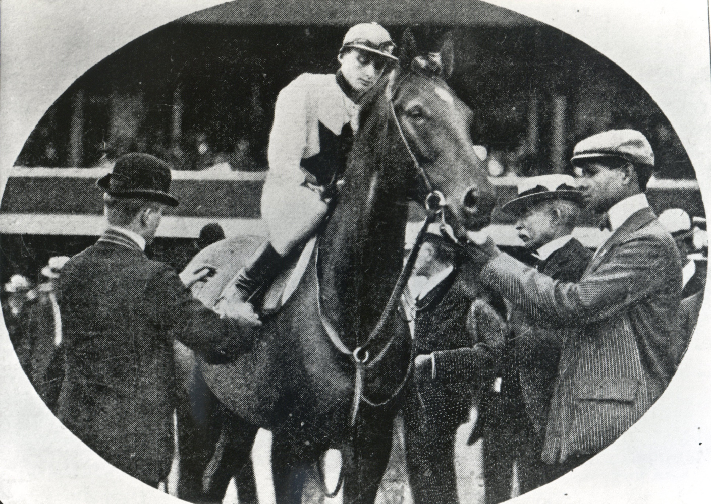 George Odom and Gold Heels (Keeneland Library Cook Collection/Museum Collection)