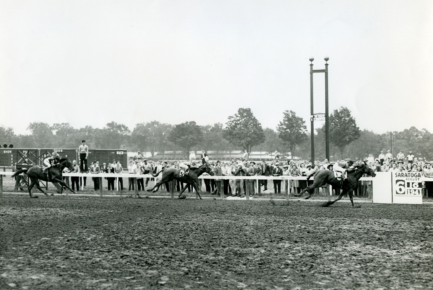 Alfred Robertson and Whirlaway winning the 1941 Saranac Handicap at Saratoga (Keeneland Library Morgan Collection/Museum Collection)