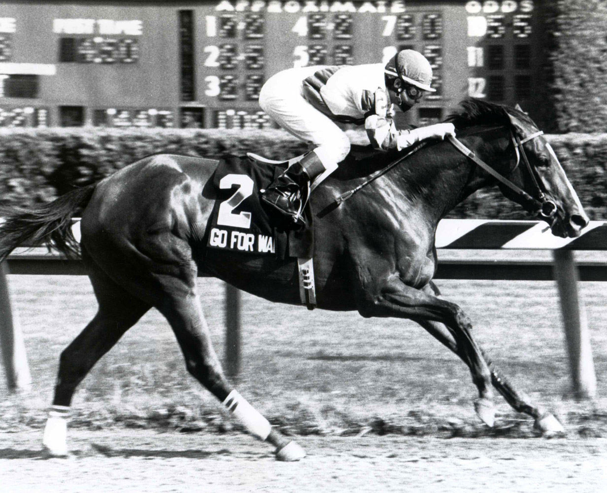 Randy Romero and Go for Wand winning the 1990 Test Stakes (NYRA/Museum Collection)