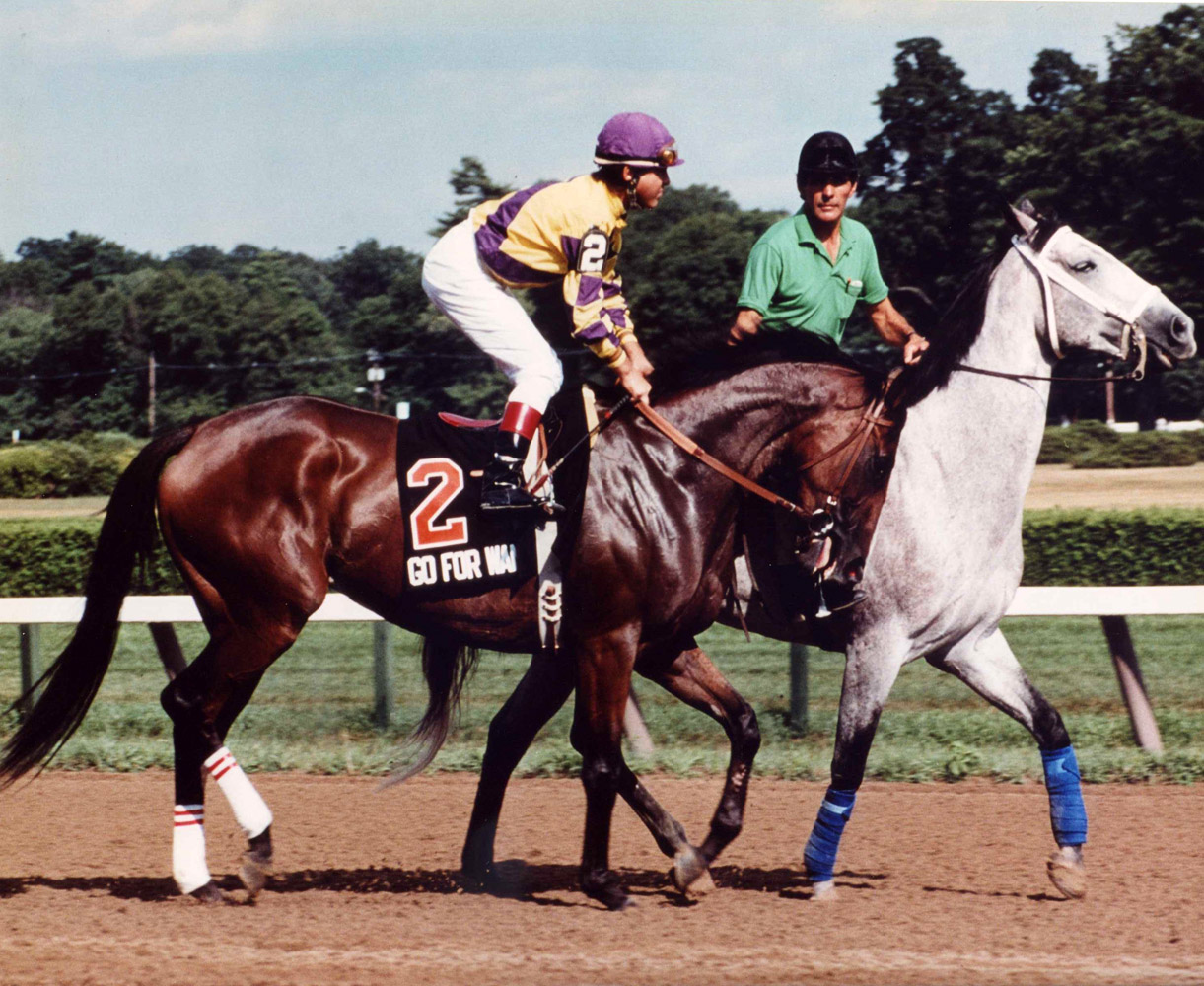Randy Romero and Go for Wand at the 1990 Test Stakes at Saratoga (Michele Williams/Museum Collection)