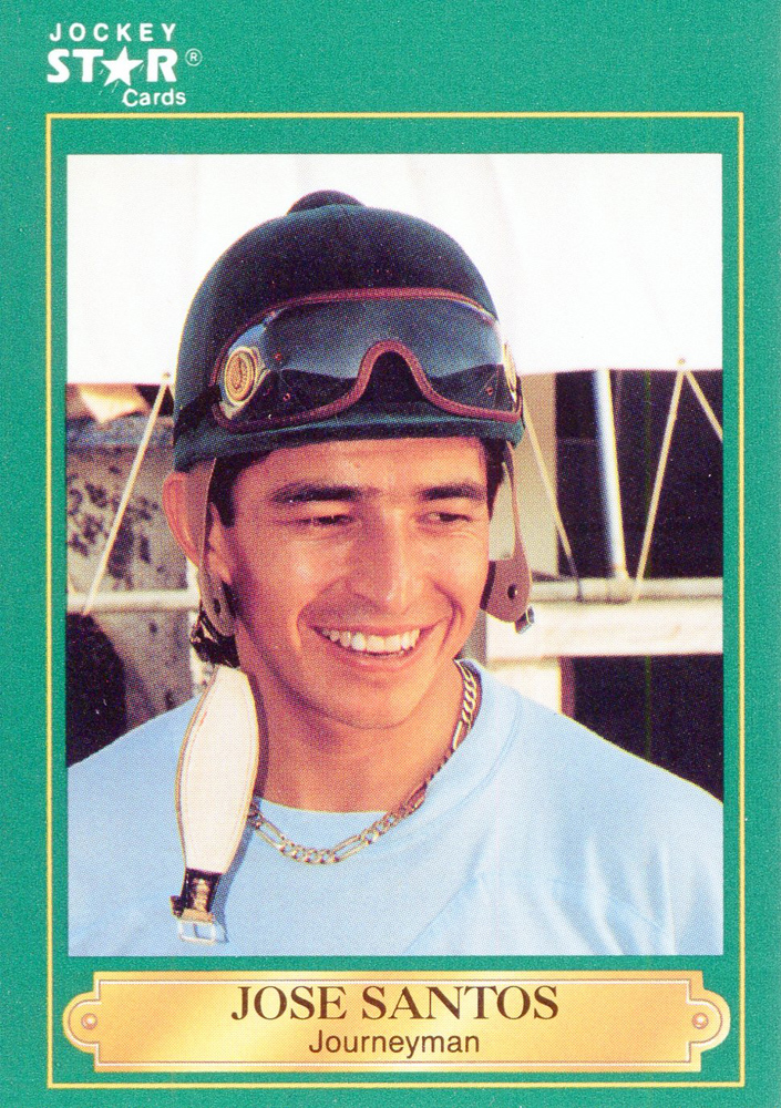 Jockey Star Card for Jose Santos (Photo by Shigeki Kikkawa) (Museum Collection)