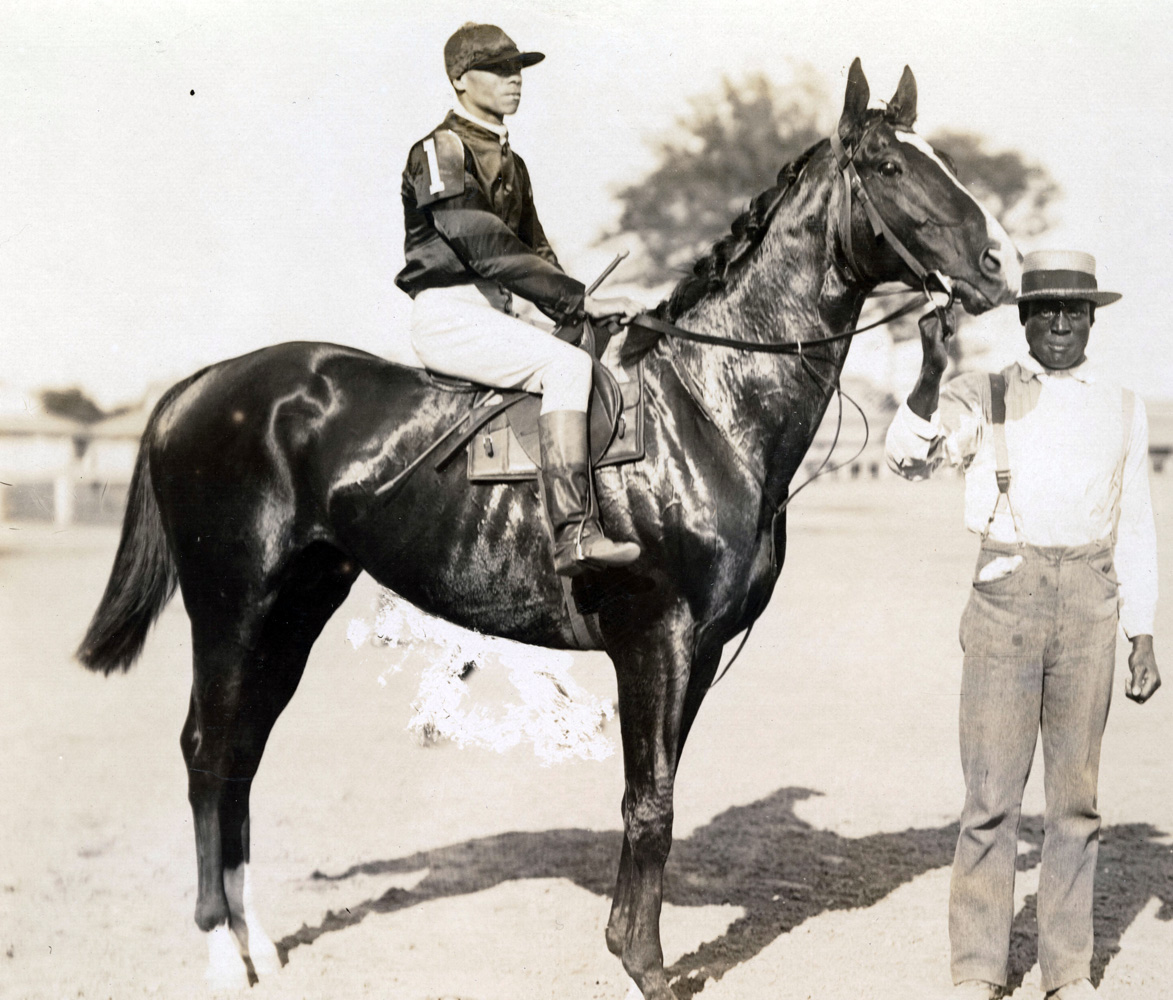 Willie Simms and Lamplighter, circa 1893 (Keeneland Library Hemment Collection)