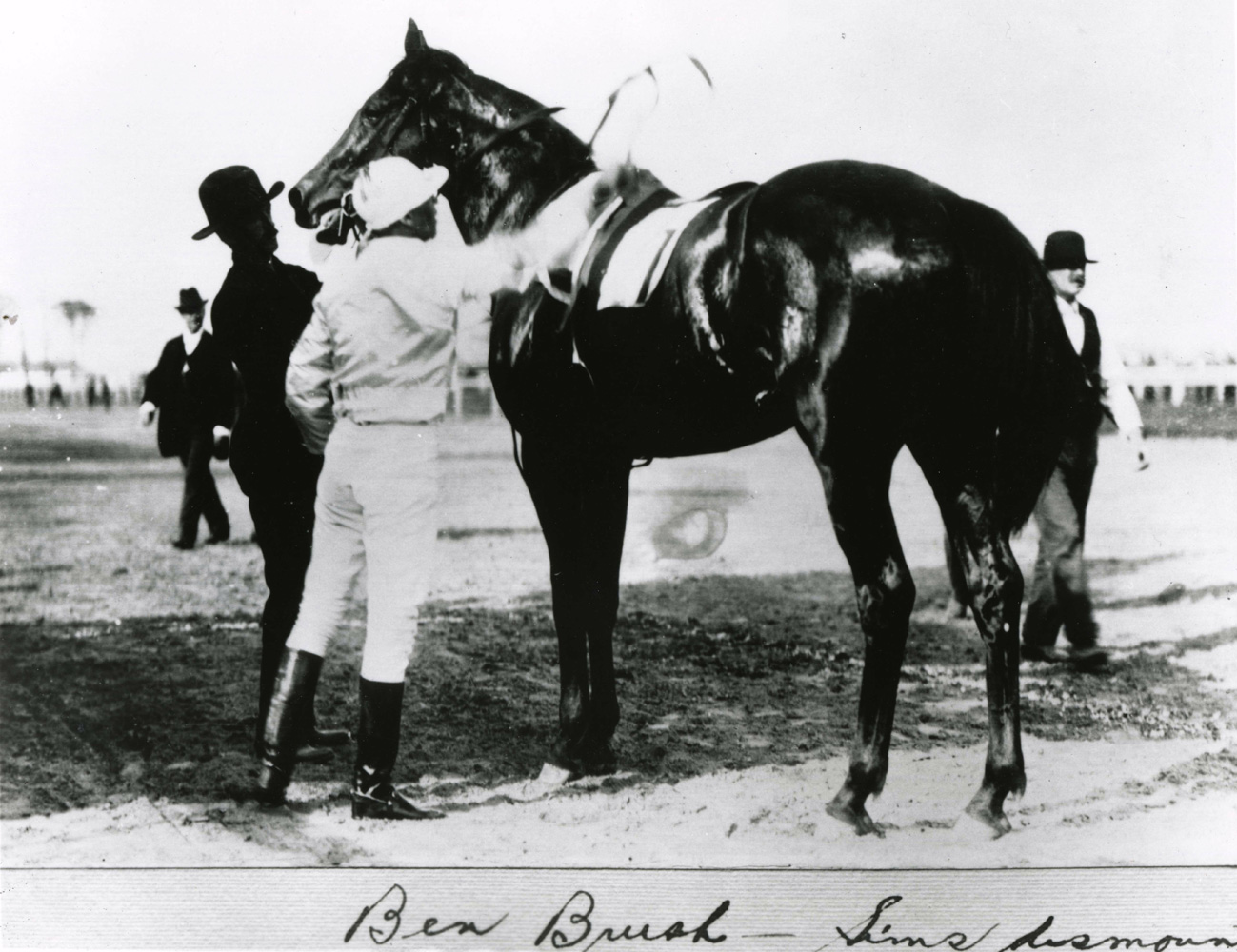 Willie Simms and Ben Brush after winning the 1896 Kentucky Derby (Churchill Downs Inc./Kinetic Corp. /Museum Collection)