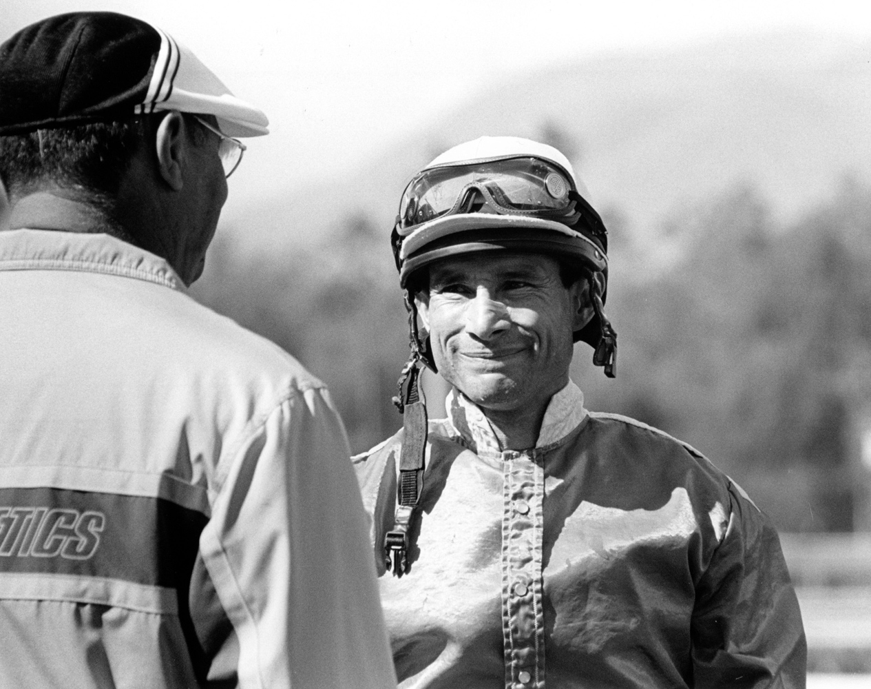 Alex Solis after five consecutive wins at Santa Anita on Feb. 20, 2006 (Bill Mochon/Museum Collection)