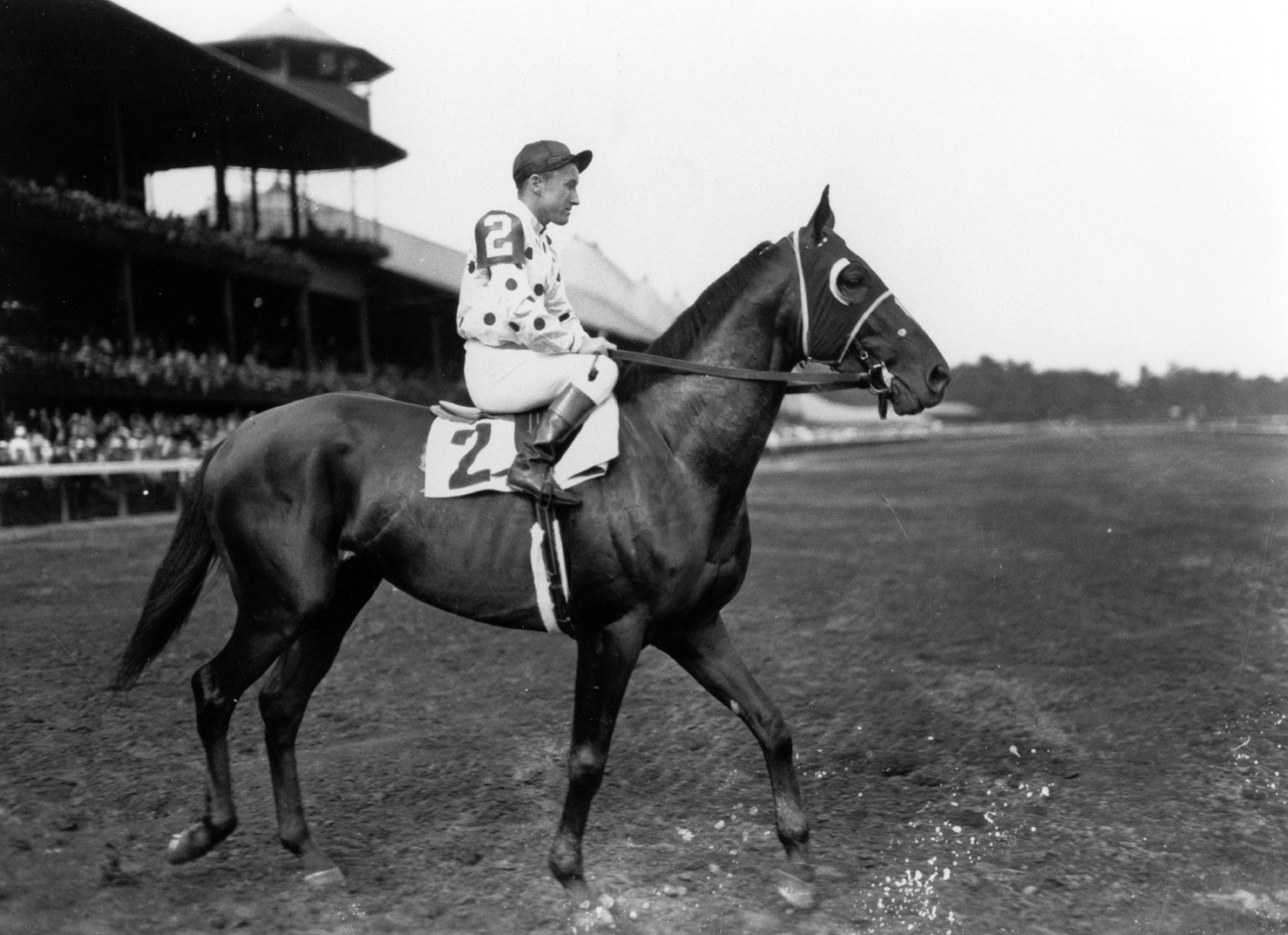 James Stout and Granville at Saratoga in 1936 (Keeneland Library Cook Collection)