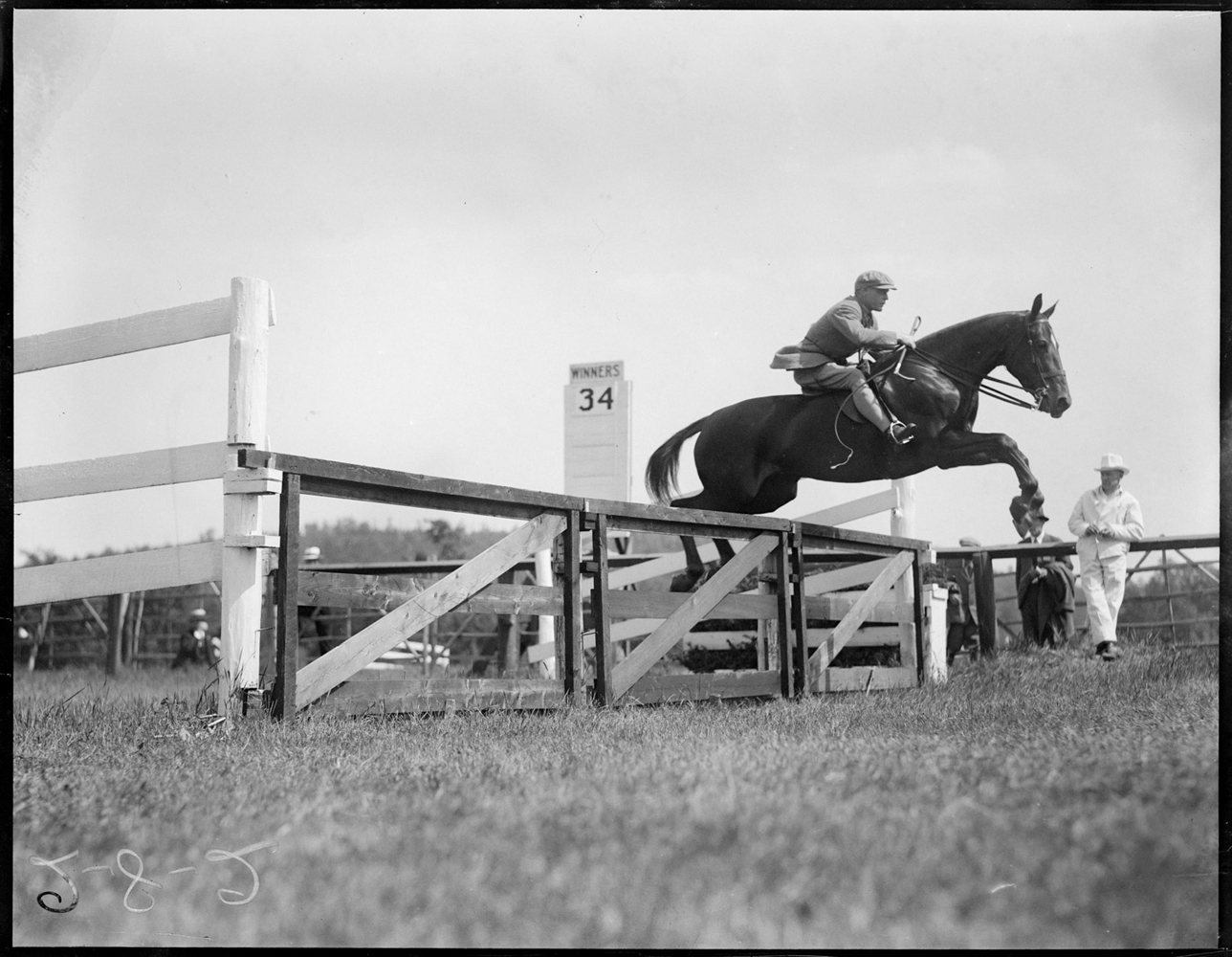 Bayard Tuckerman on Mrs. J. H. Howard's Irish Rose at the Millwood Hunt, June 1927 (Courtesy of the Boston Public Library, Leslie Jones Collection)
