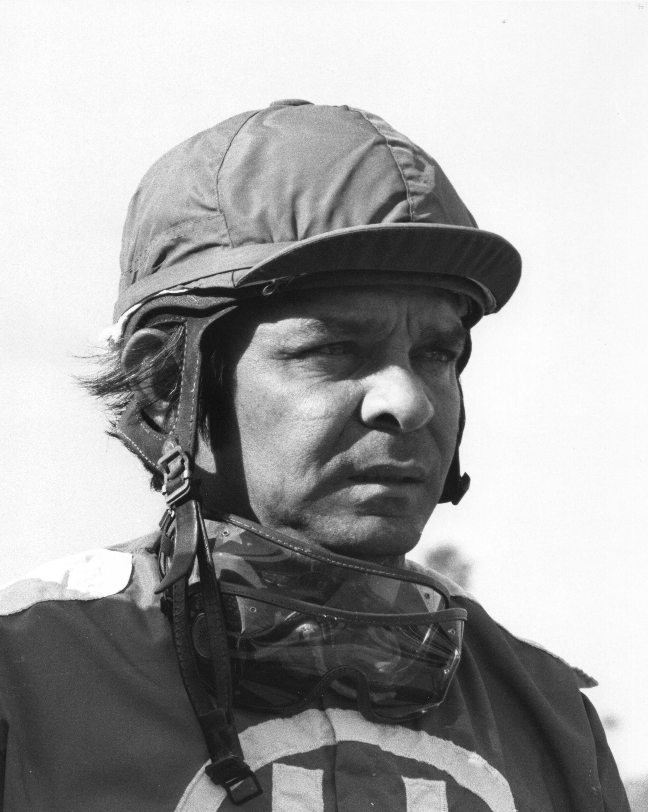 "Ismael ""Milo"" Valenzuela at Hollywood Park, May 1975 (Bill Mochon/Museum Collection)"