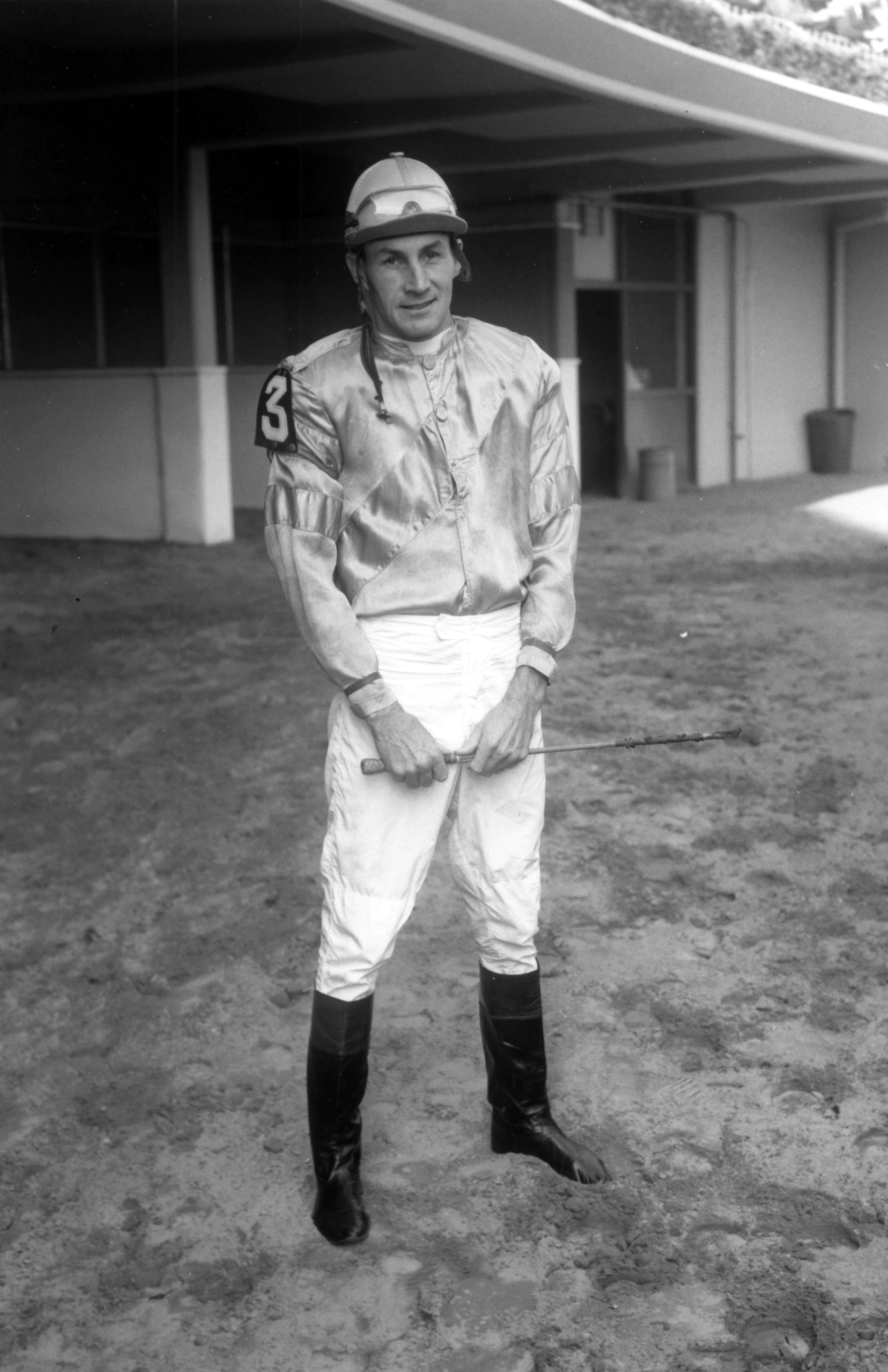 Joe Aitcheson, Jr. at Aqueduct, October 1961 (Keeneland Library Morgan Collection/Museum Collection)