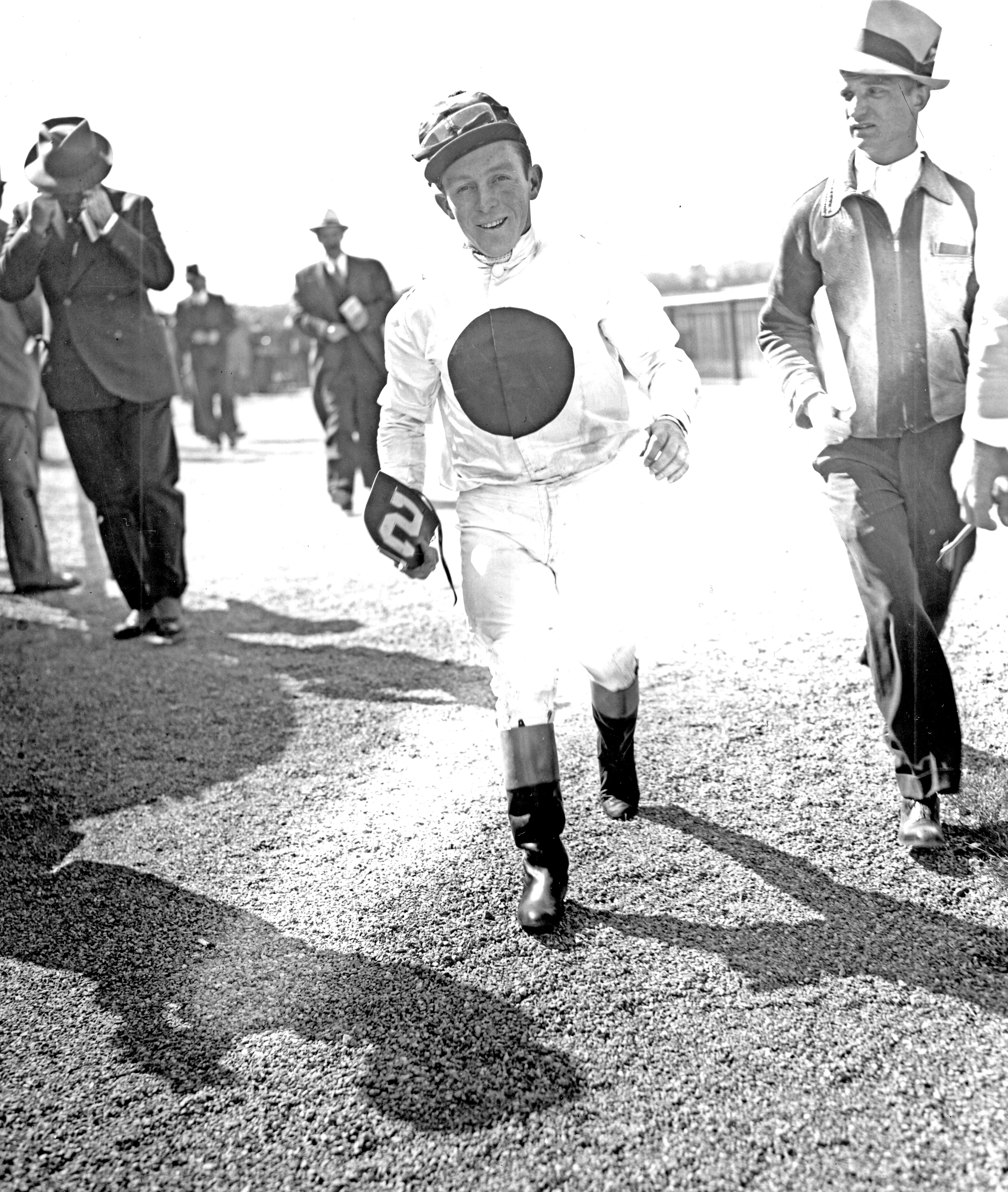 John Adams at Belmont Park, May 1939 (Keeneland Library Morgan Collection/Museum Collection)