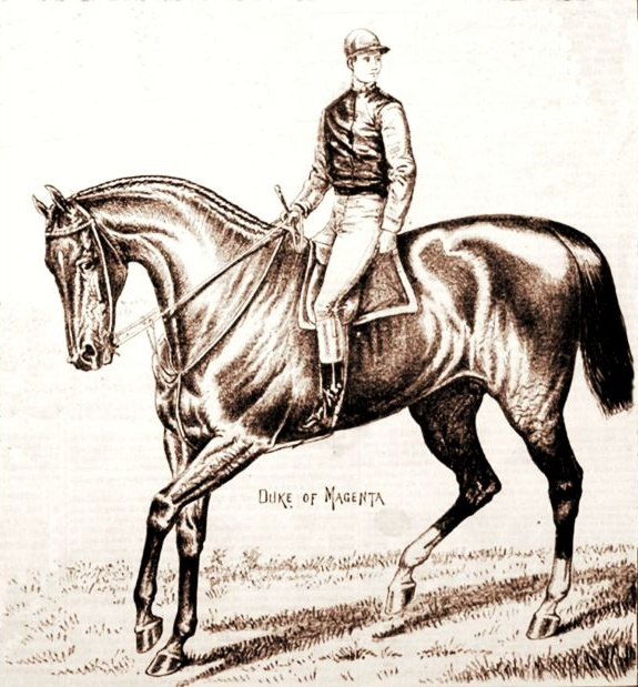 Lloyd Hughes aboard Duke of Magenta from The Spirit of the Times (Keeneland Library)