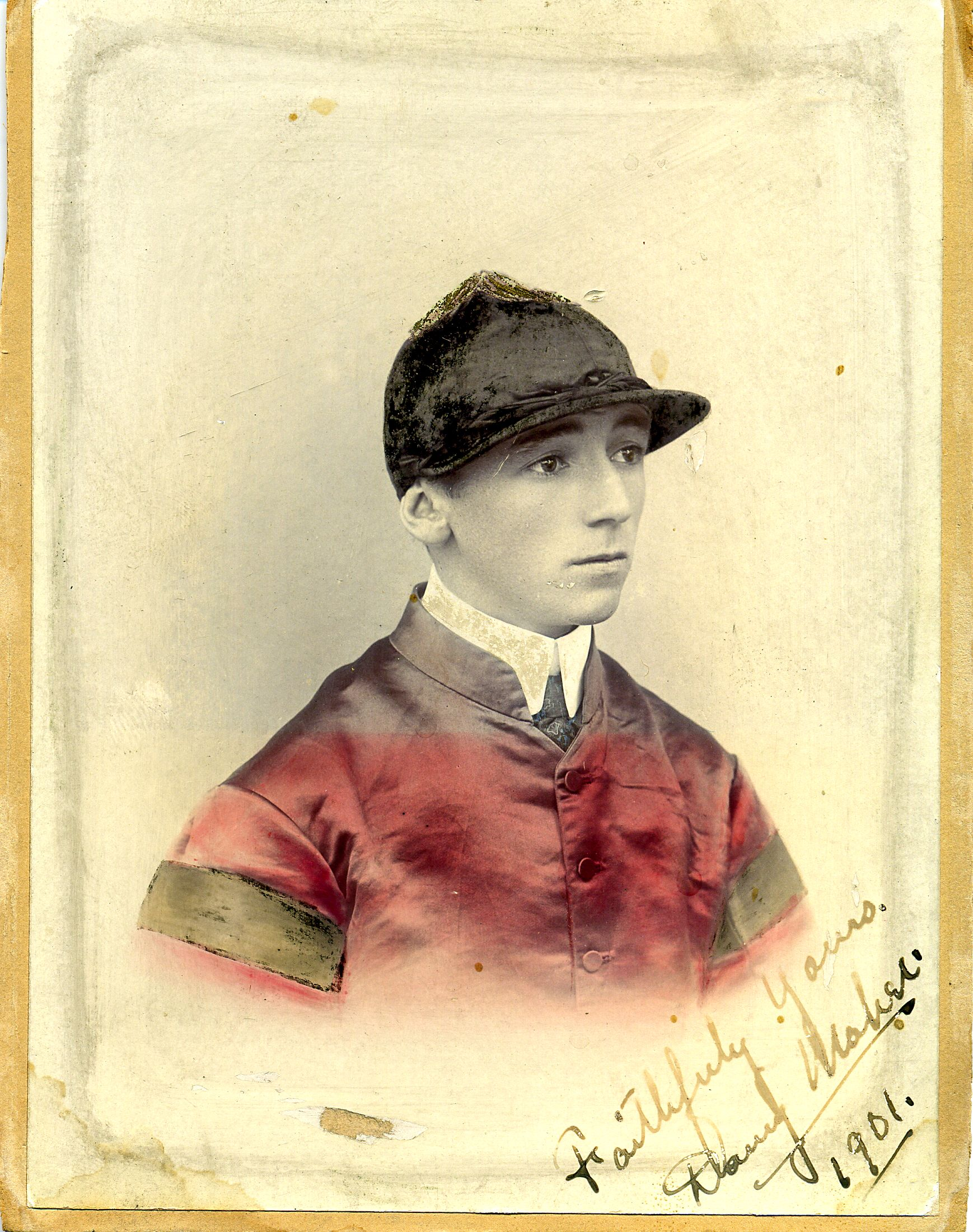 Colorized photograph of Daniel Maher, signed in 1901 (Museum Collection)