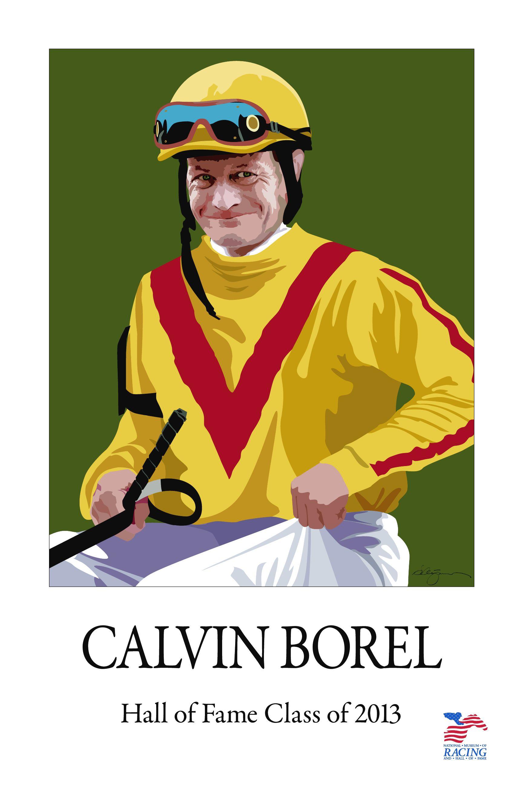 Greg Montgomery poster of Calvin Borel (Courtesy of artist)