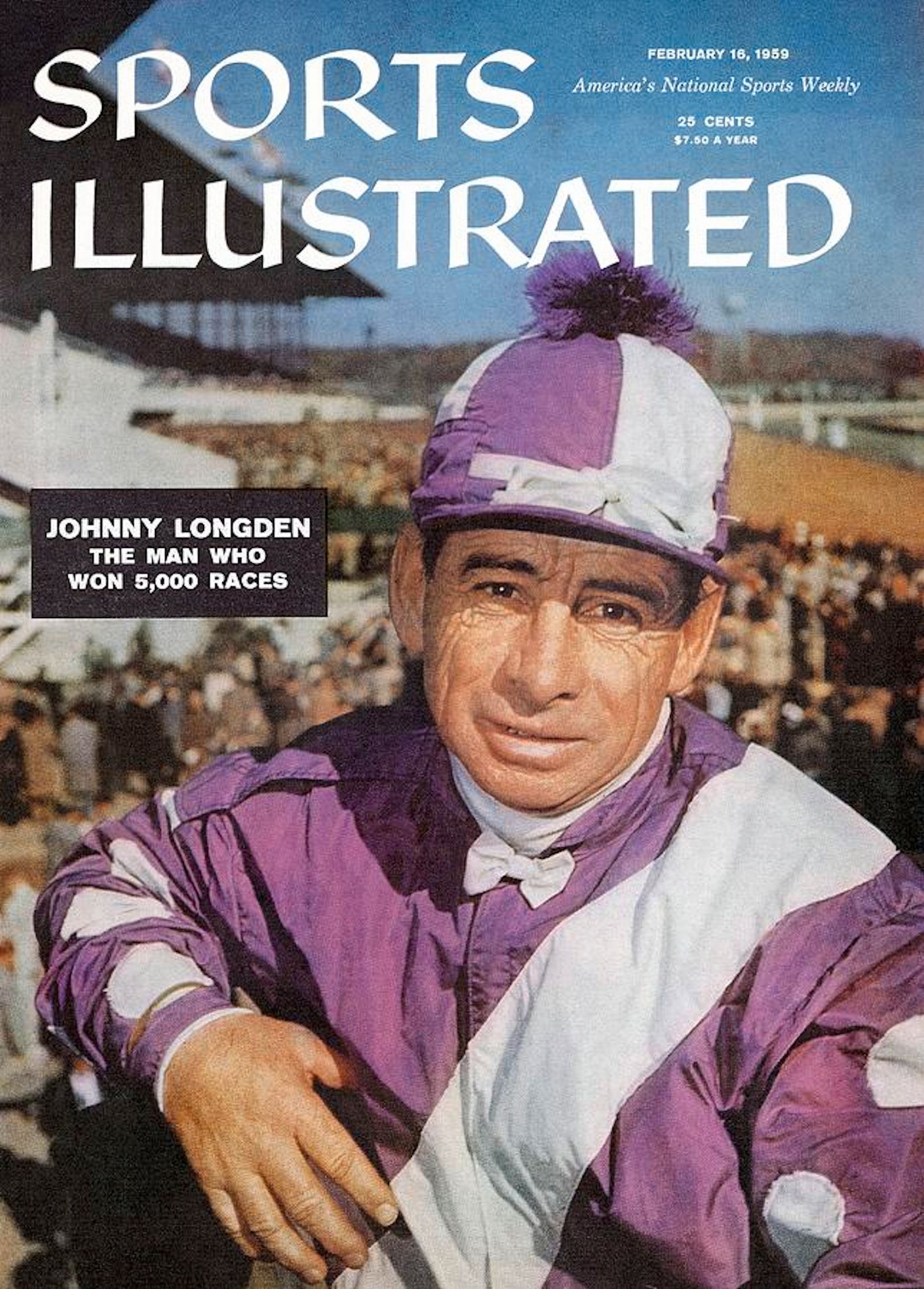 """Johnny Longden on the cover of """"Sports Illustrated"""" in 1959 (Sports Illustrated)"""