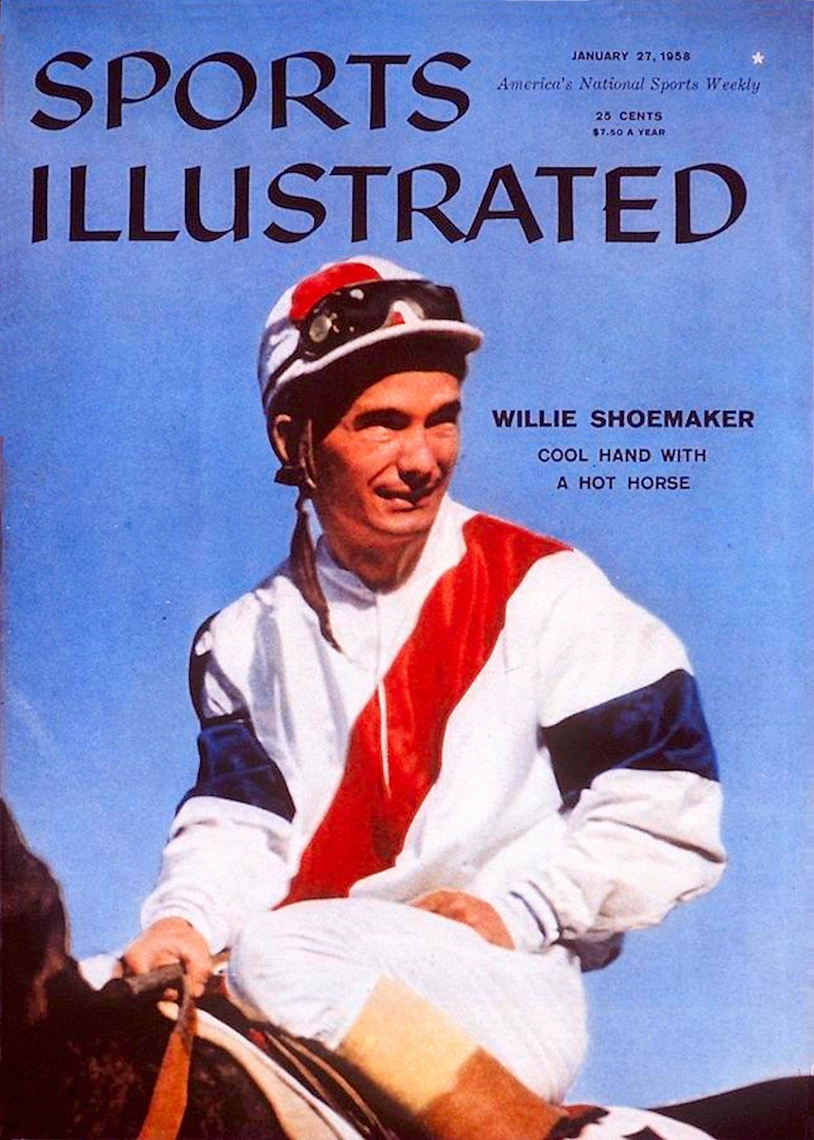 "Bill Shoemaker on the cover of ""Sports Illustrated"" in 1958 (Sports Illustrated)"