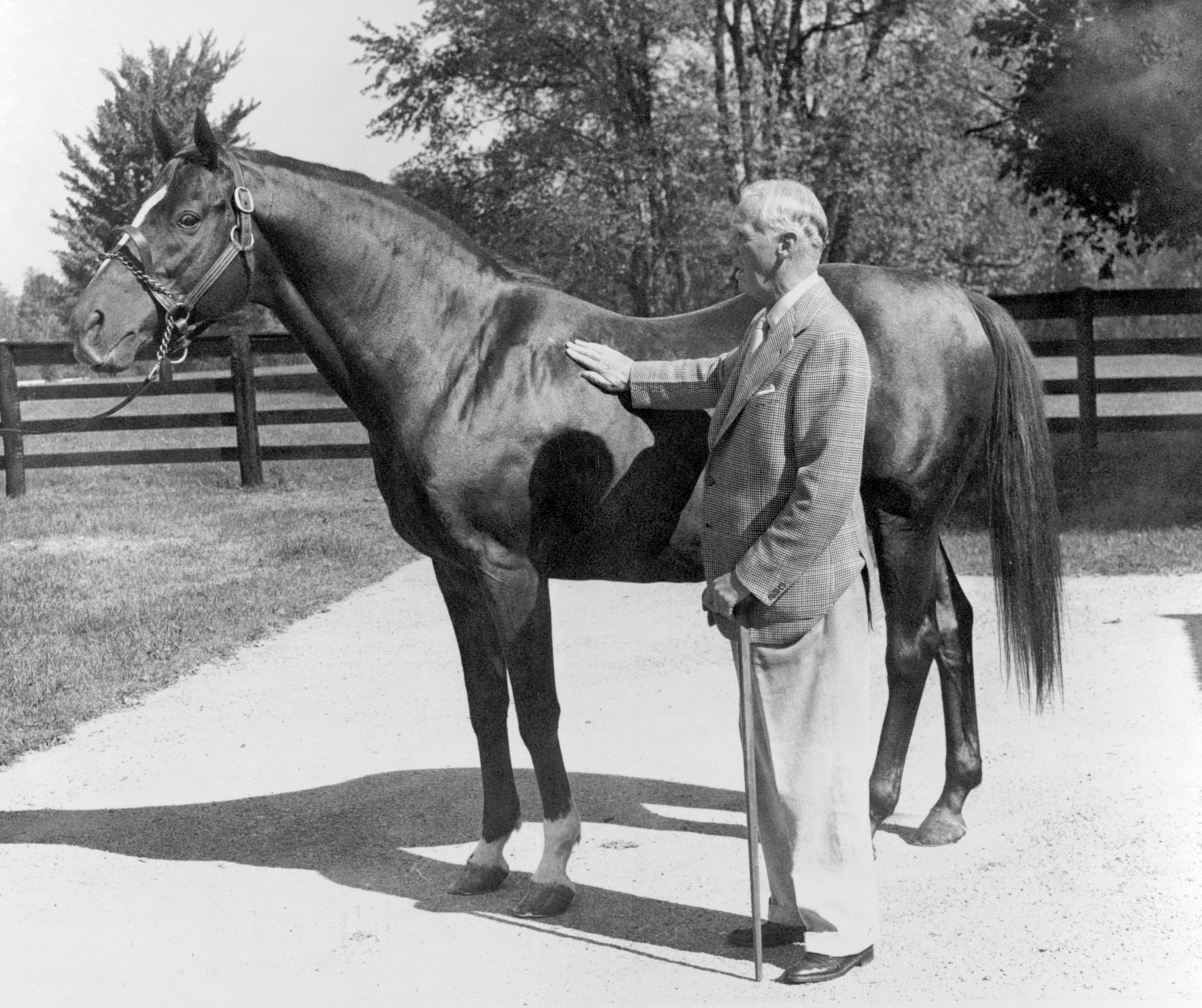 George D. Widener, Jr. with Eight Thirty (Keeneland Library Thoroughbred Times Collection)