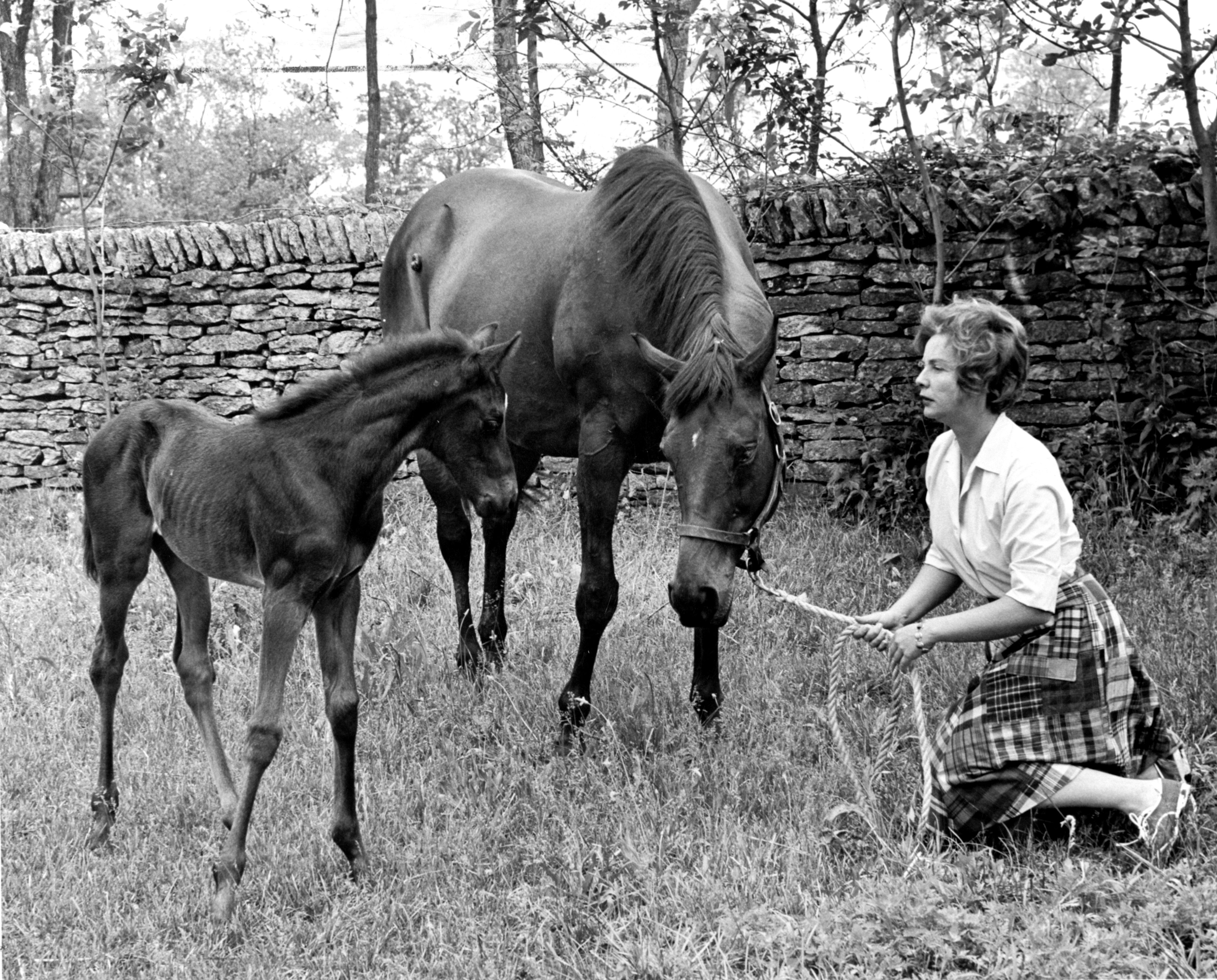 Alice Headley Chandler at Mill Ridge in 1963 (Lexington Herald-Leader)
