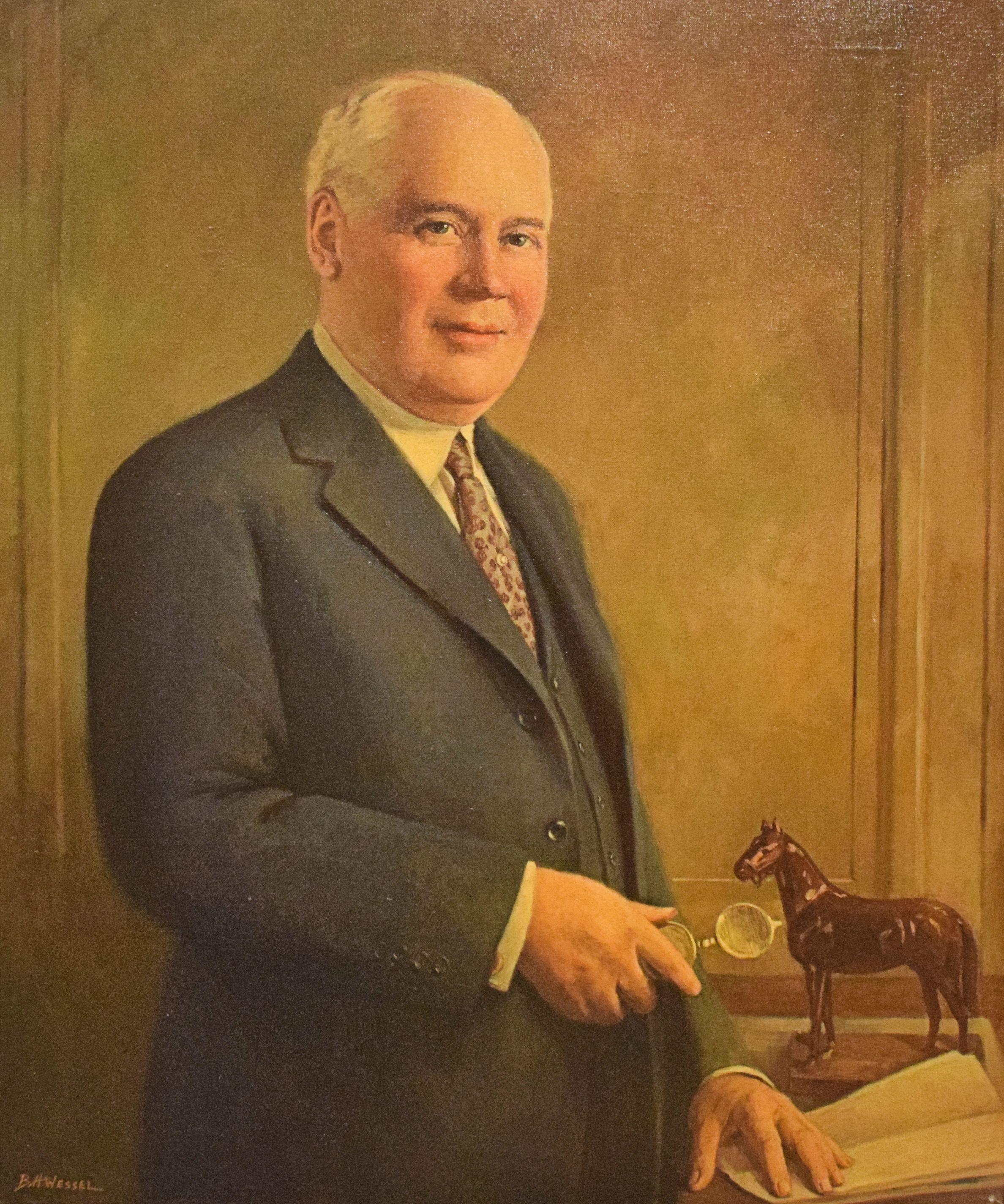 Portrait of Matt Winn by B. H. Wessel, 1935 (Museum Collection)