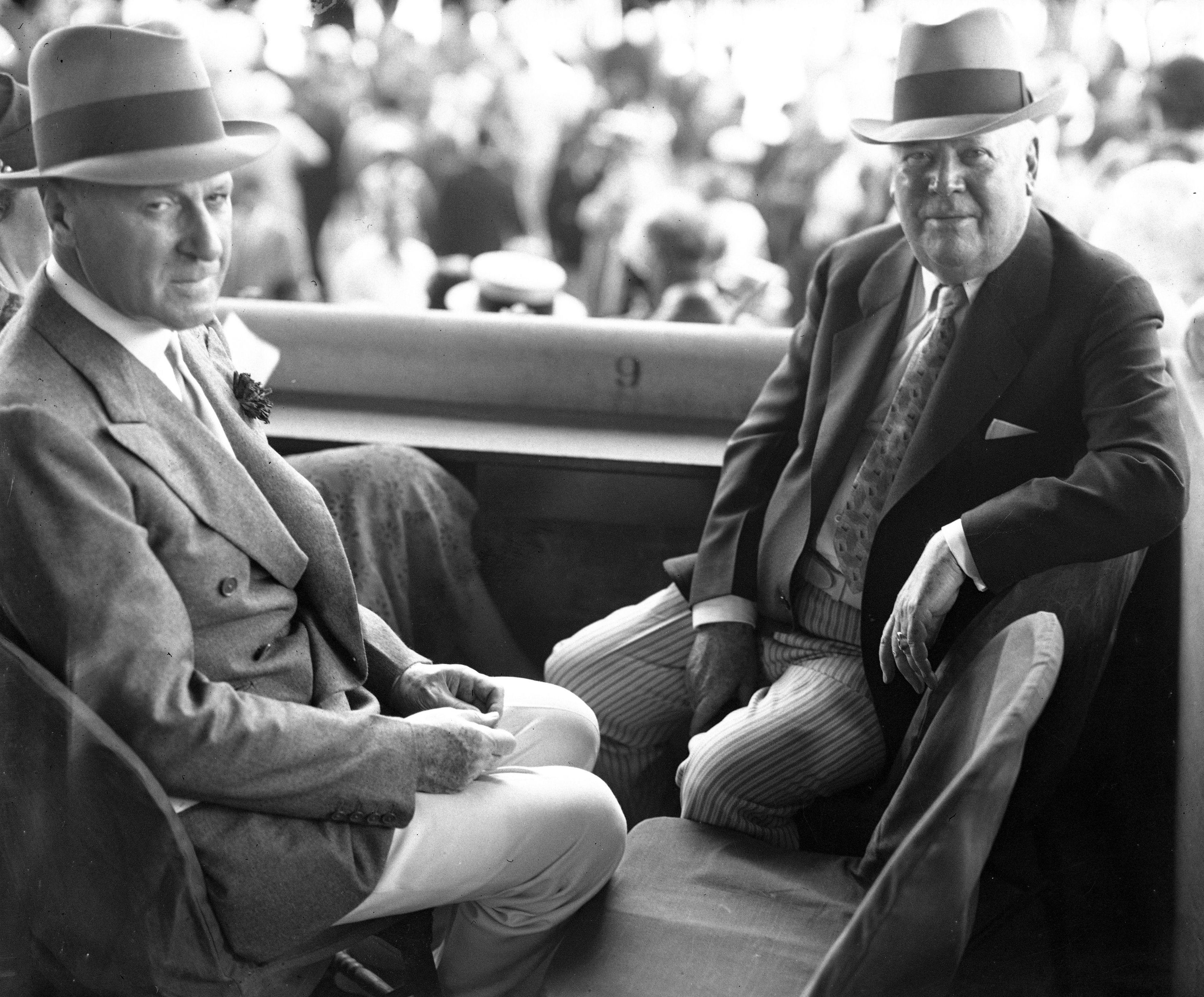 Joseph E. Widener and Matt Winn (Keeneland Library Cook Collection)