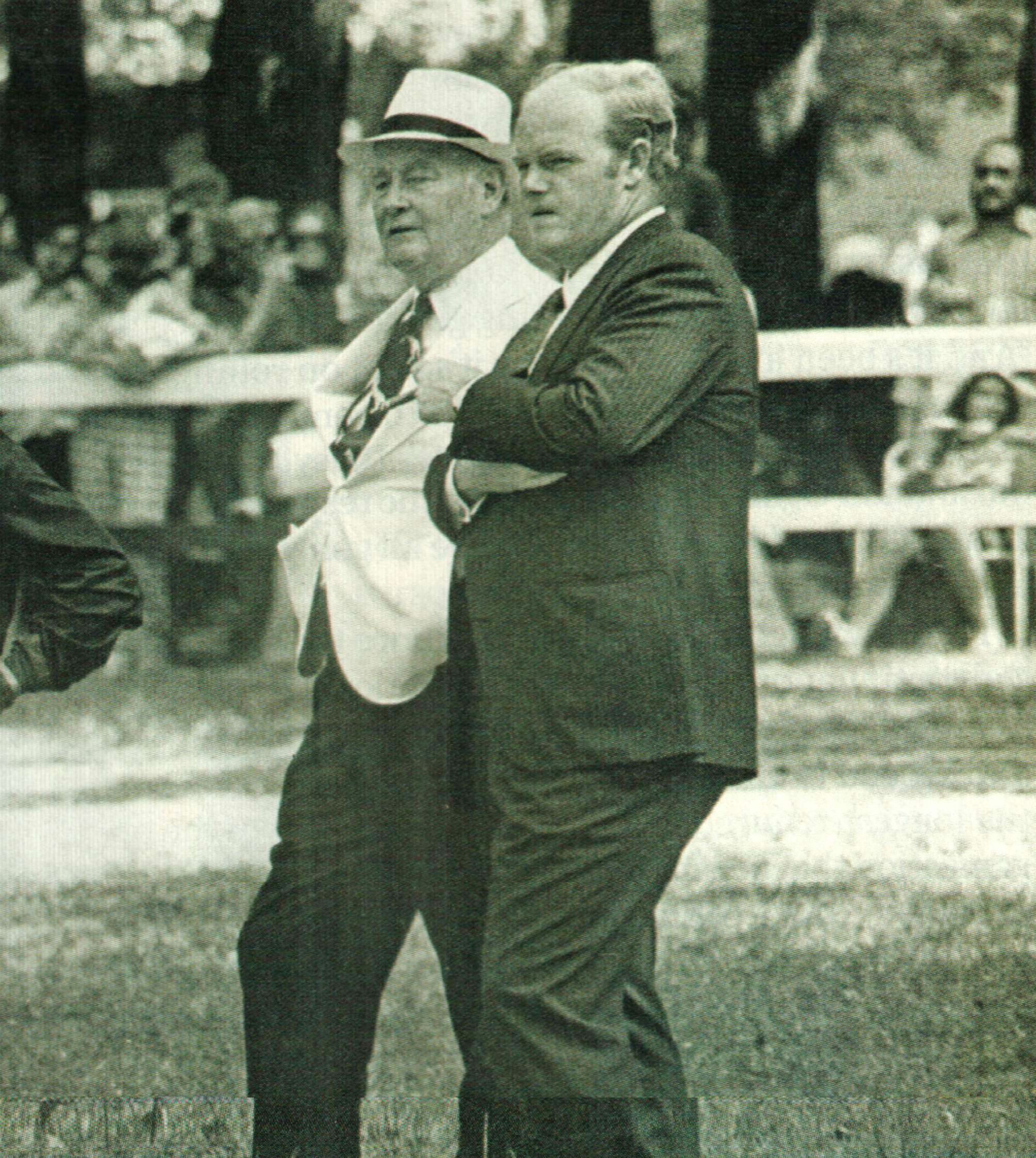 Ogden Mills Phipps with his father, Ogden Phipps (Keeneland Library)