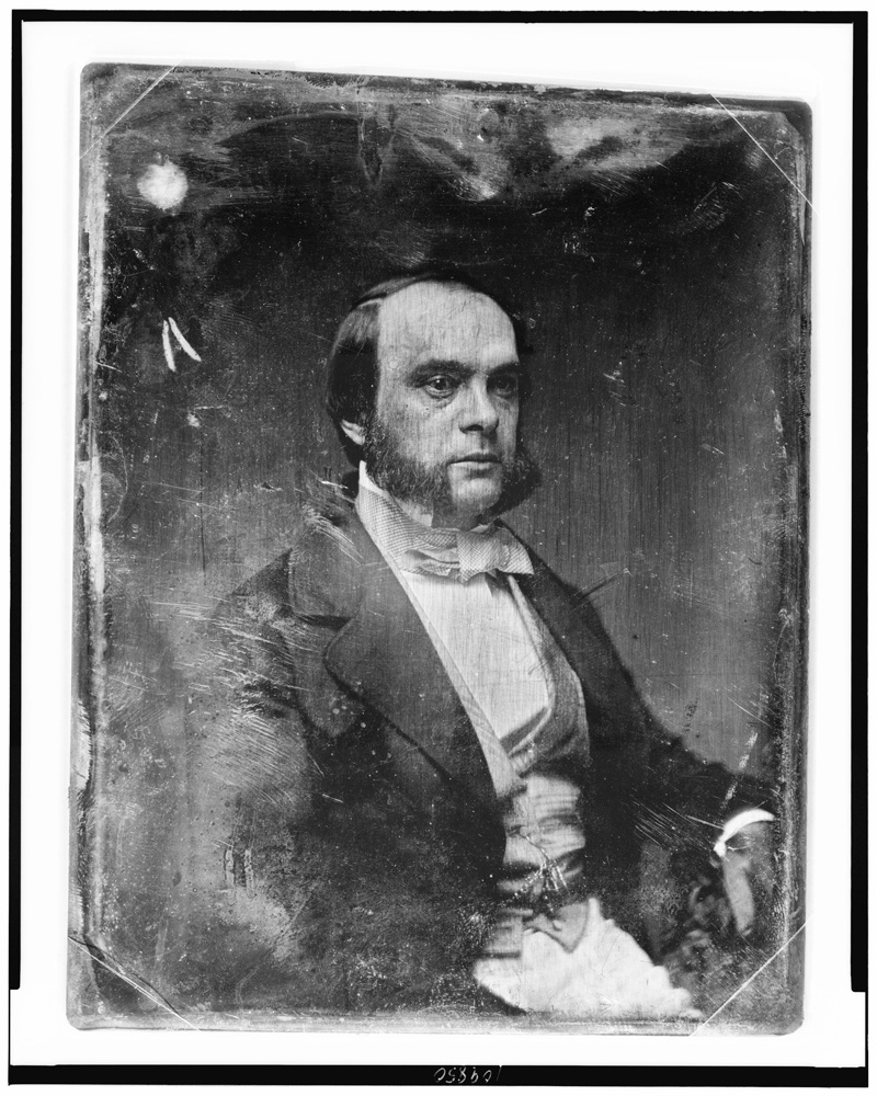 Daguerrotype photo of August Belmont I, c. 1844-1860 (Library of Congress, Prints & Photographs Division, Daguerreotypes Collection)