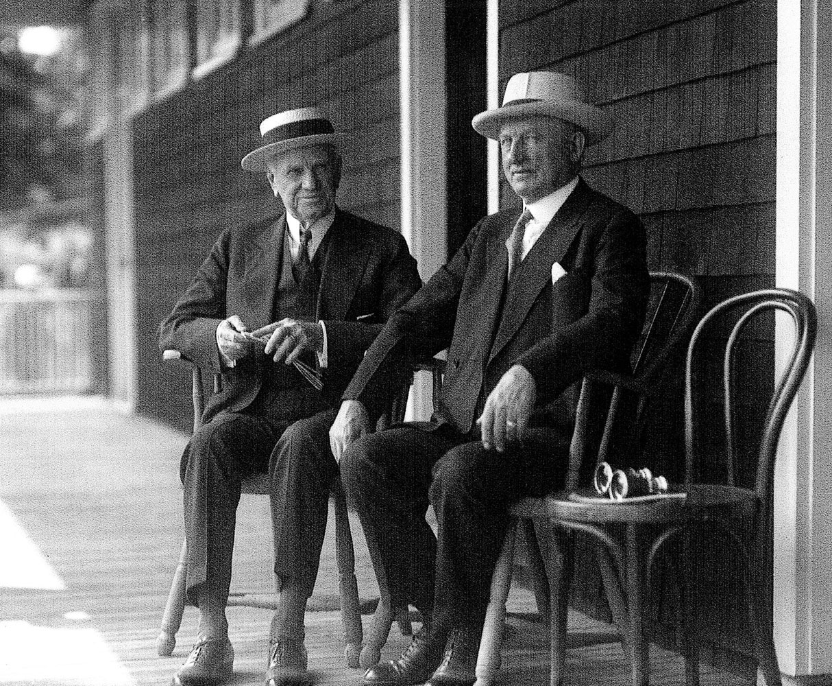 E. R. Bradley (left) with James Butler (right) (Keeneland Library Cook Collection)