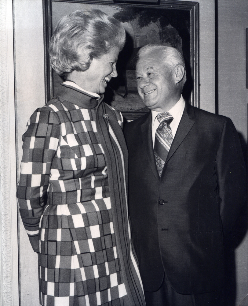 Penny Chenery with trainer Lucien Laurin (Museum Collection)