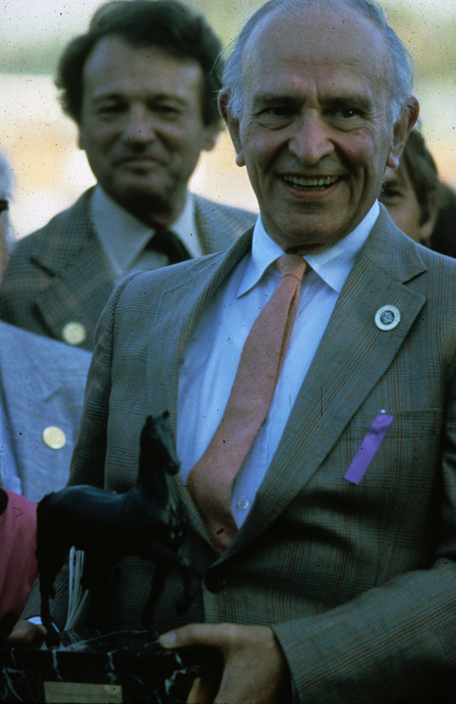 John Gaines at the inaugural Breeders' Cup at Hollywood Park in 1984 (Breeders' Cup Photo)