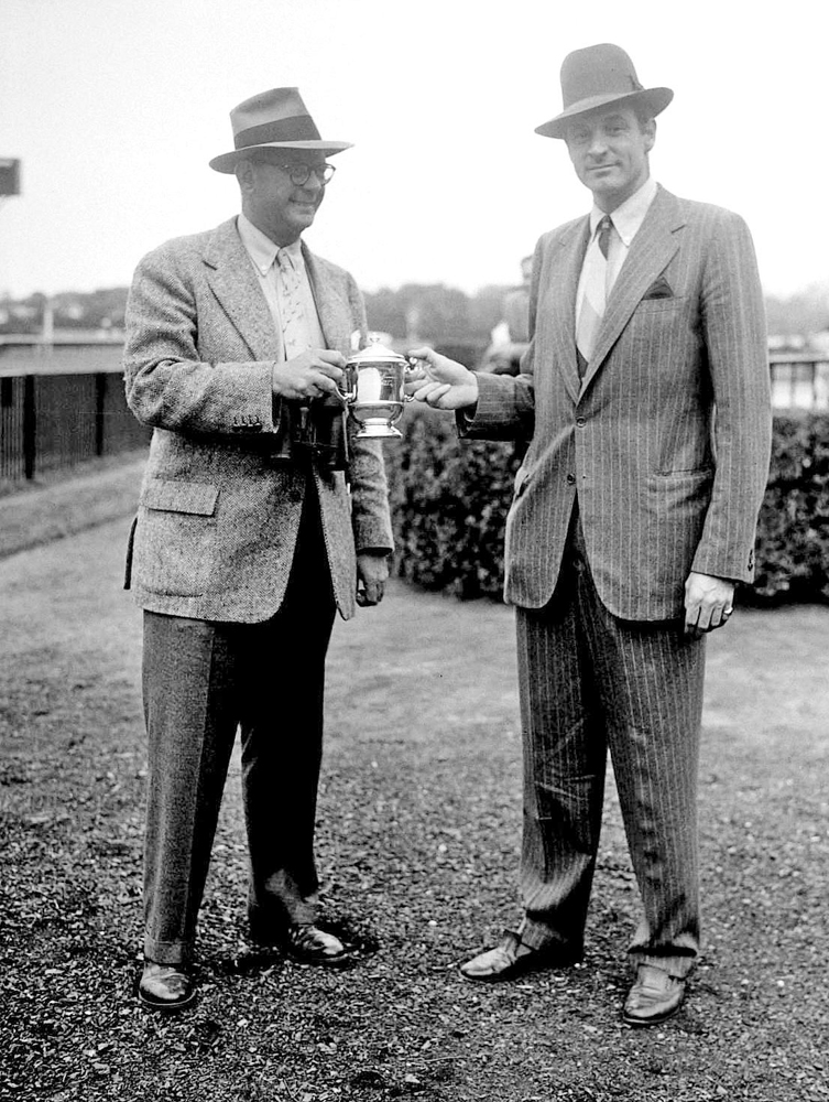 "Arthur ""Bull"" Hancock and William Woodward, Jr. (Keeneland Library Morgan Collection)"