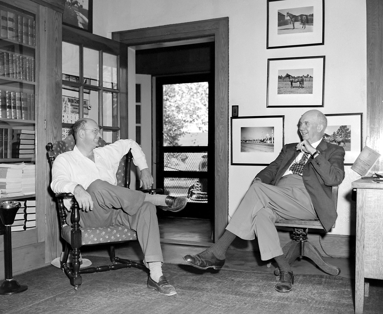 Bull Hancock and his father, Arthur B.  Hancock, Sr. (Keeneland Library Meadors Collection)