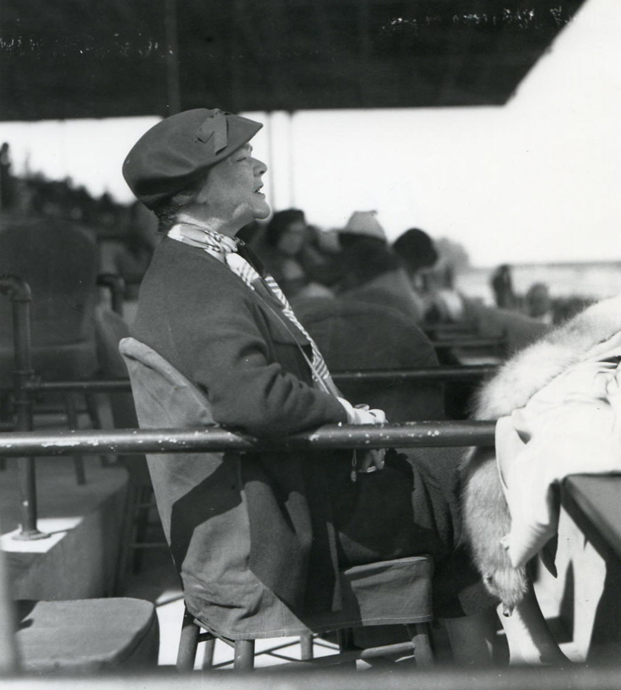 Helen Hay Whitney at Hialeah Park, 1935 (Keeneland Library Morgan Collection/Museum Collection)
