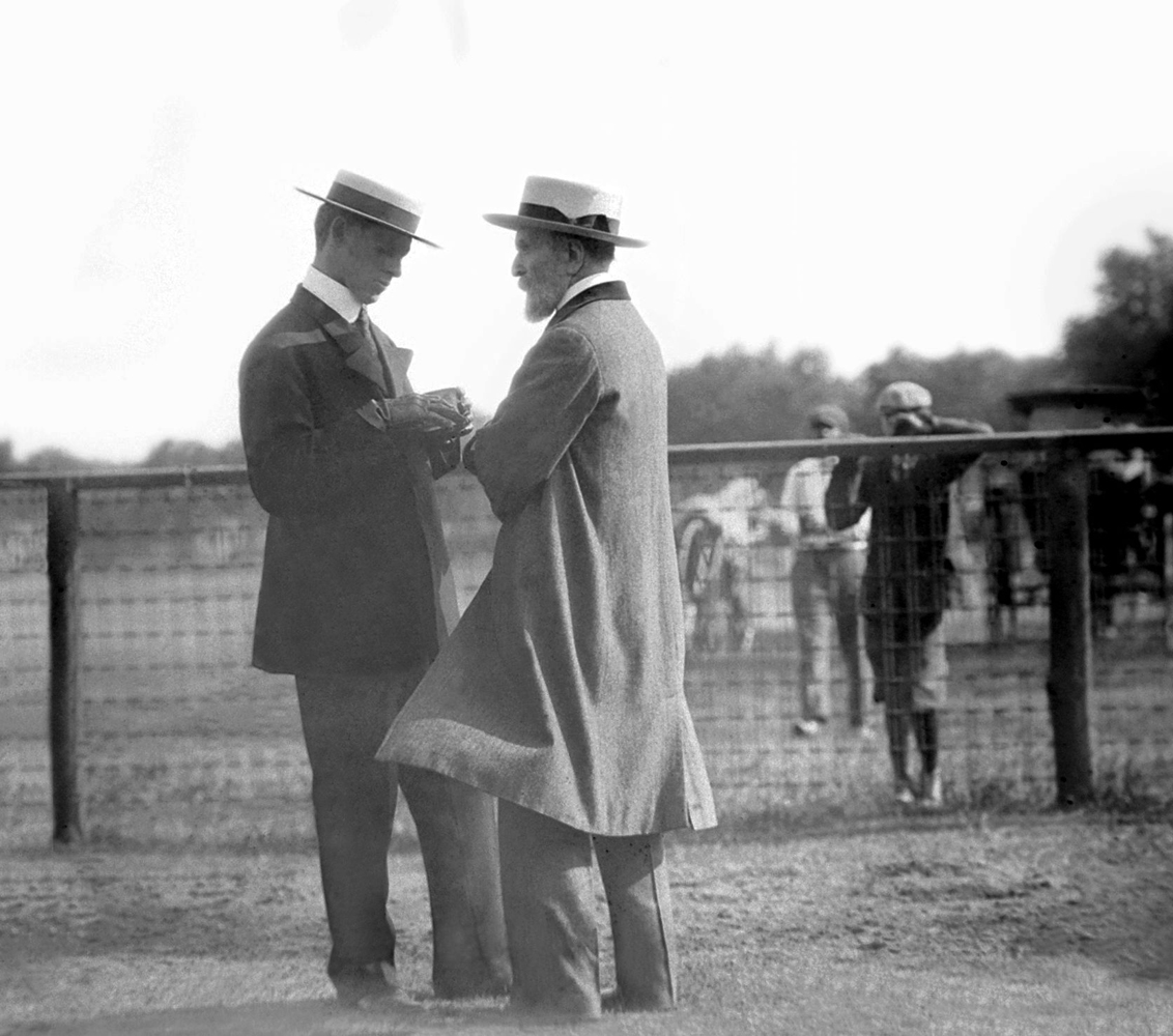Harry Payne Whitney and James Robert Keene (Keeneland Library Cook Collection)