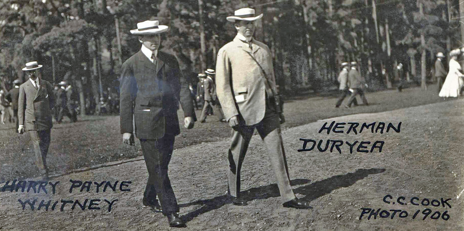 Harry Payne Whitney and Herman Duryea in 1906 (C. C. Cook/Museum Collection)