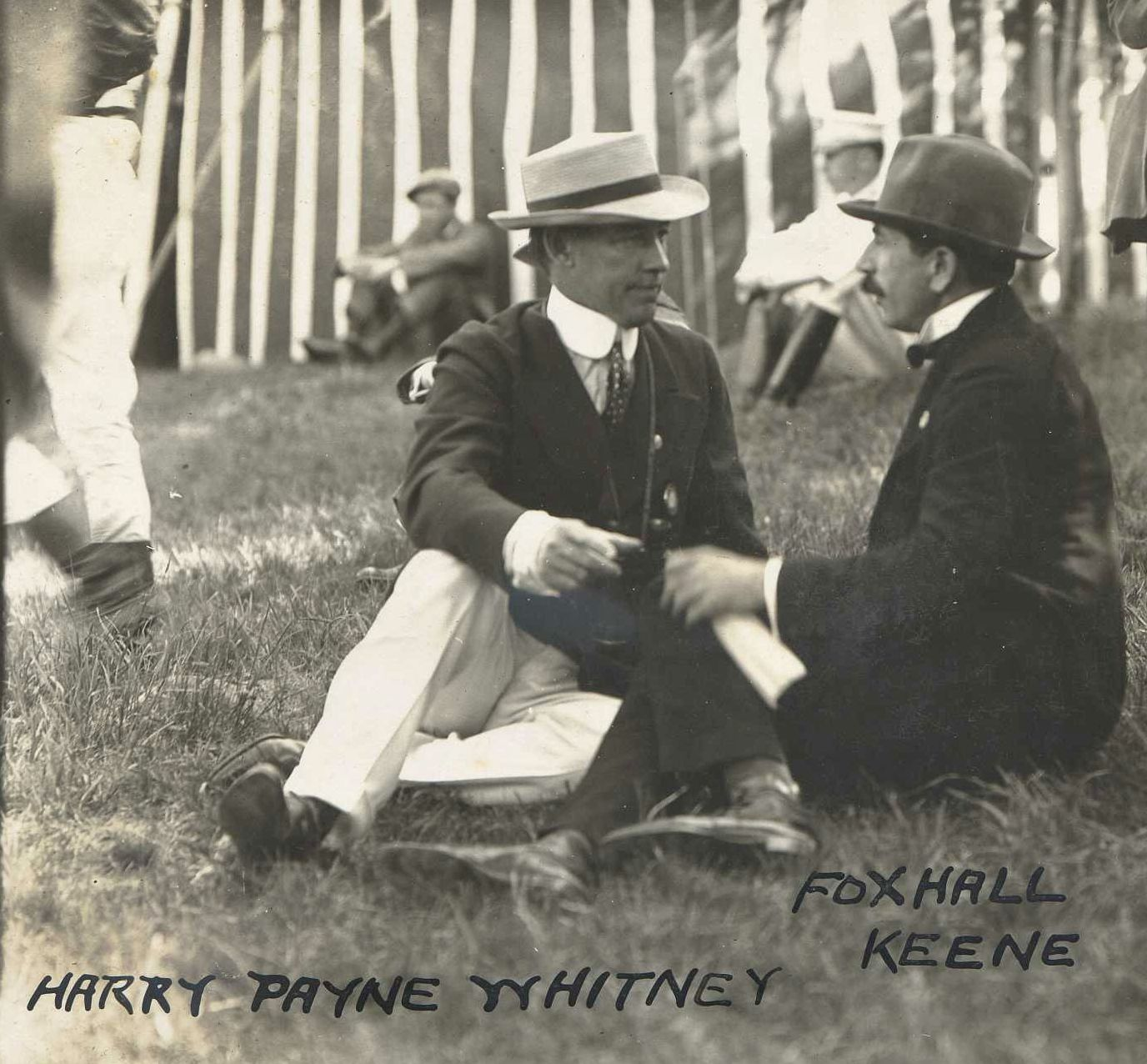 Harry Payne Whitney and Foxhall Keene in 1908 (C. C. Cook/Museum Collection)