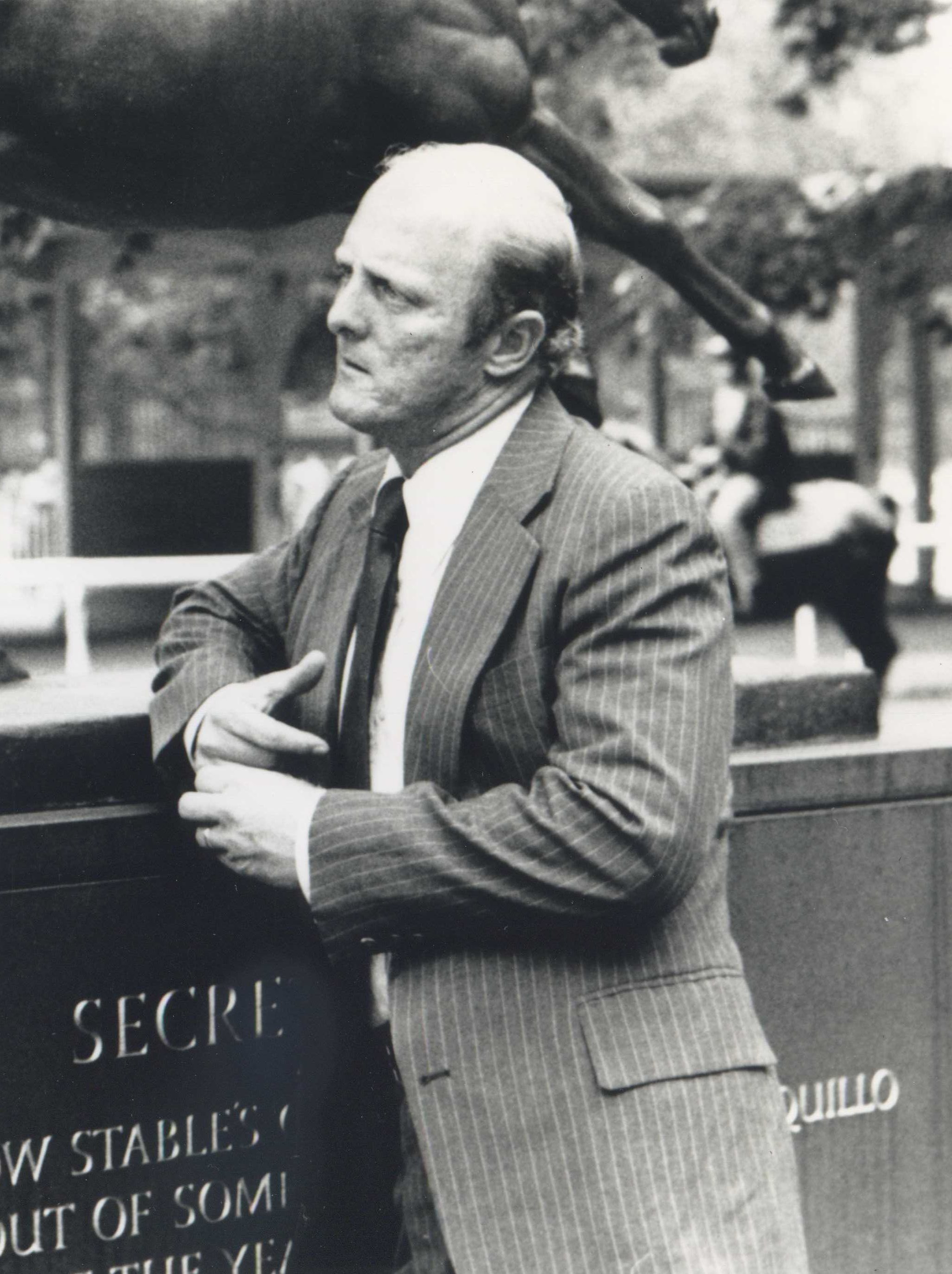 LeRoy Jolley in the Belmont Park paddock in 1987 (Museum Collection)