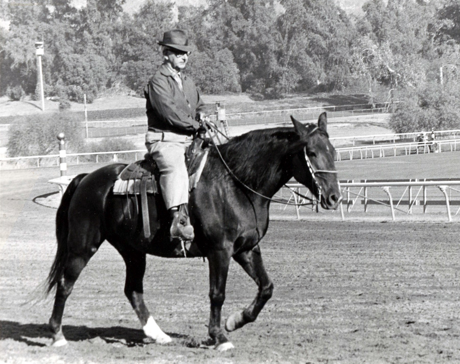 Buster Millerick on the track (California Thoroughbred Breeders' Association)